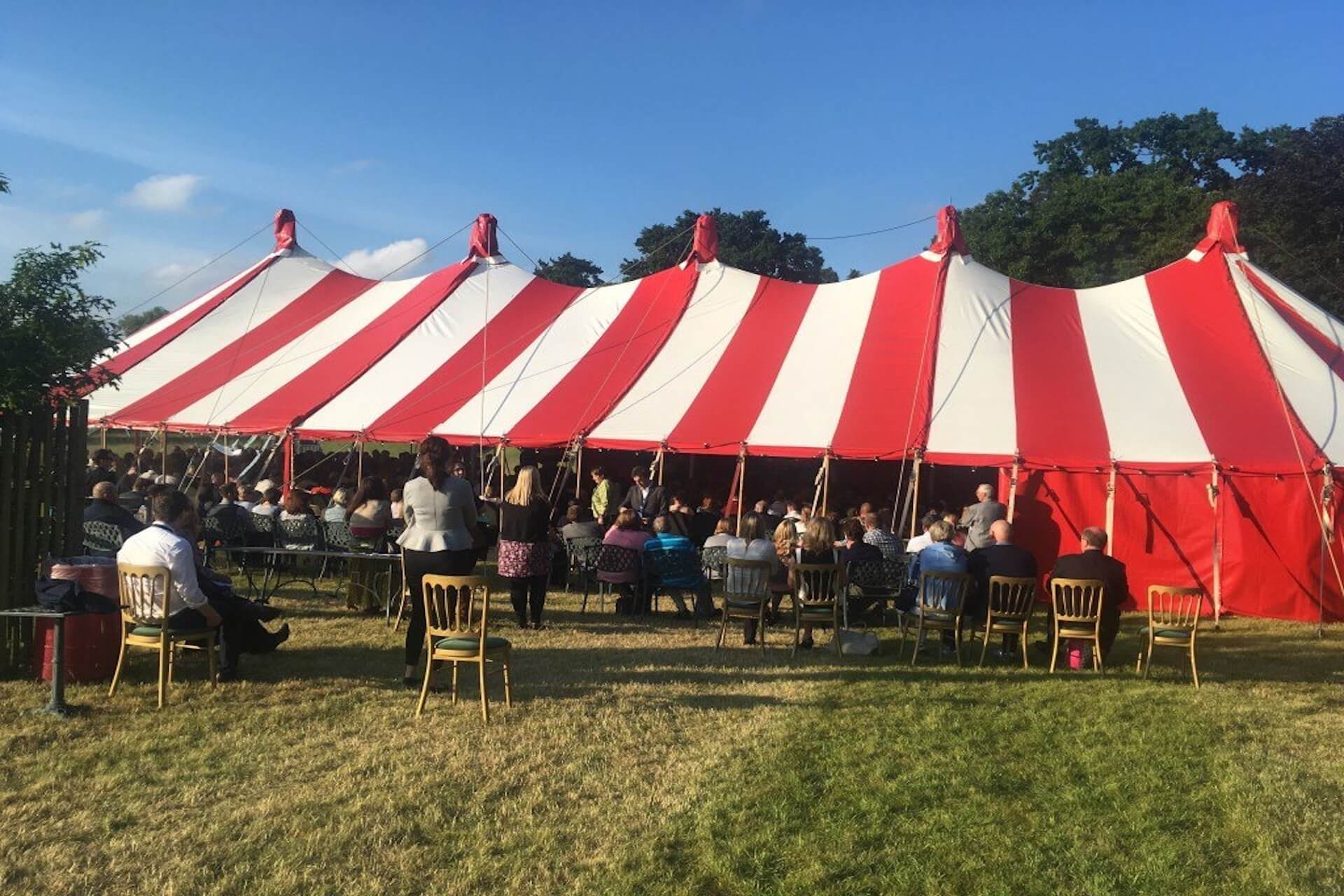 College leavers event in our Ice Cream  marquee