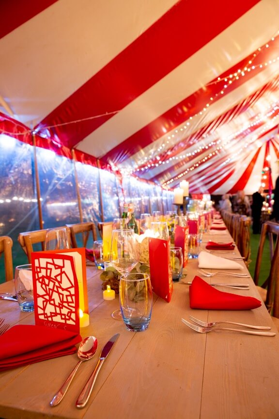 Wedding tablescaping