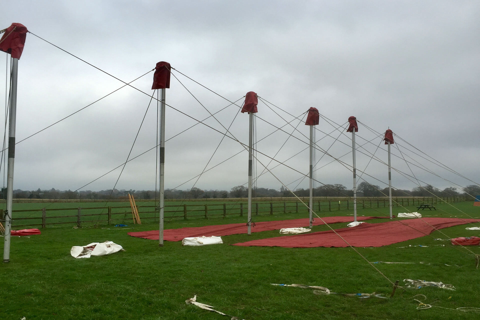 Lots of marquee king poles