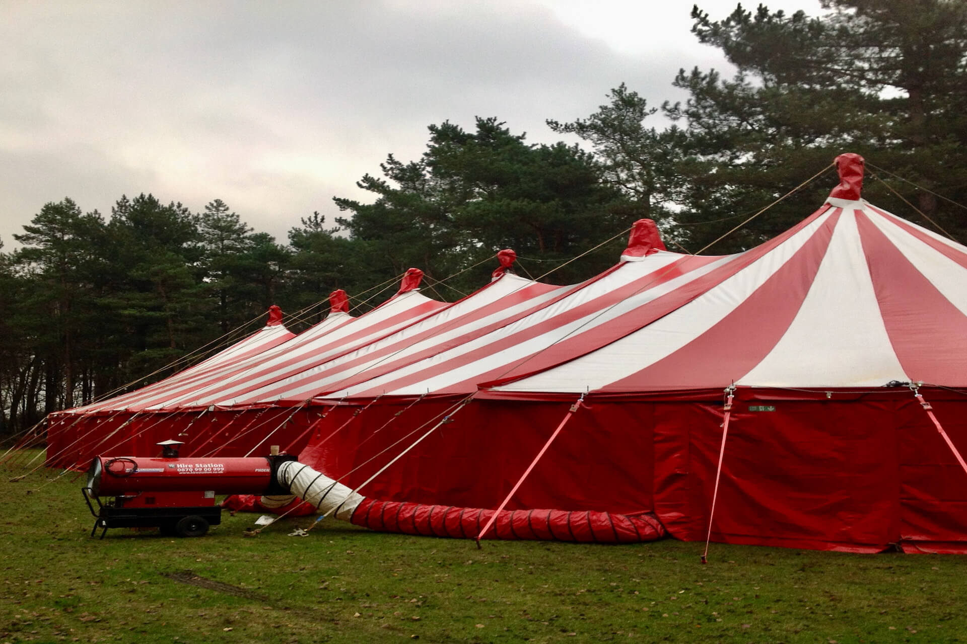 A large warm tent