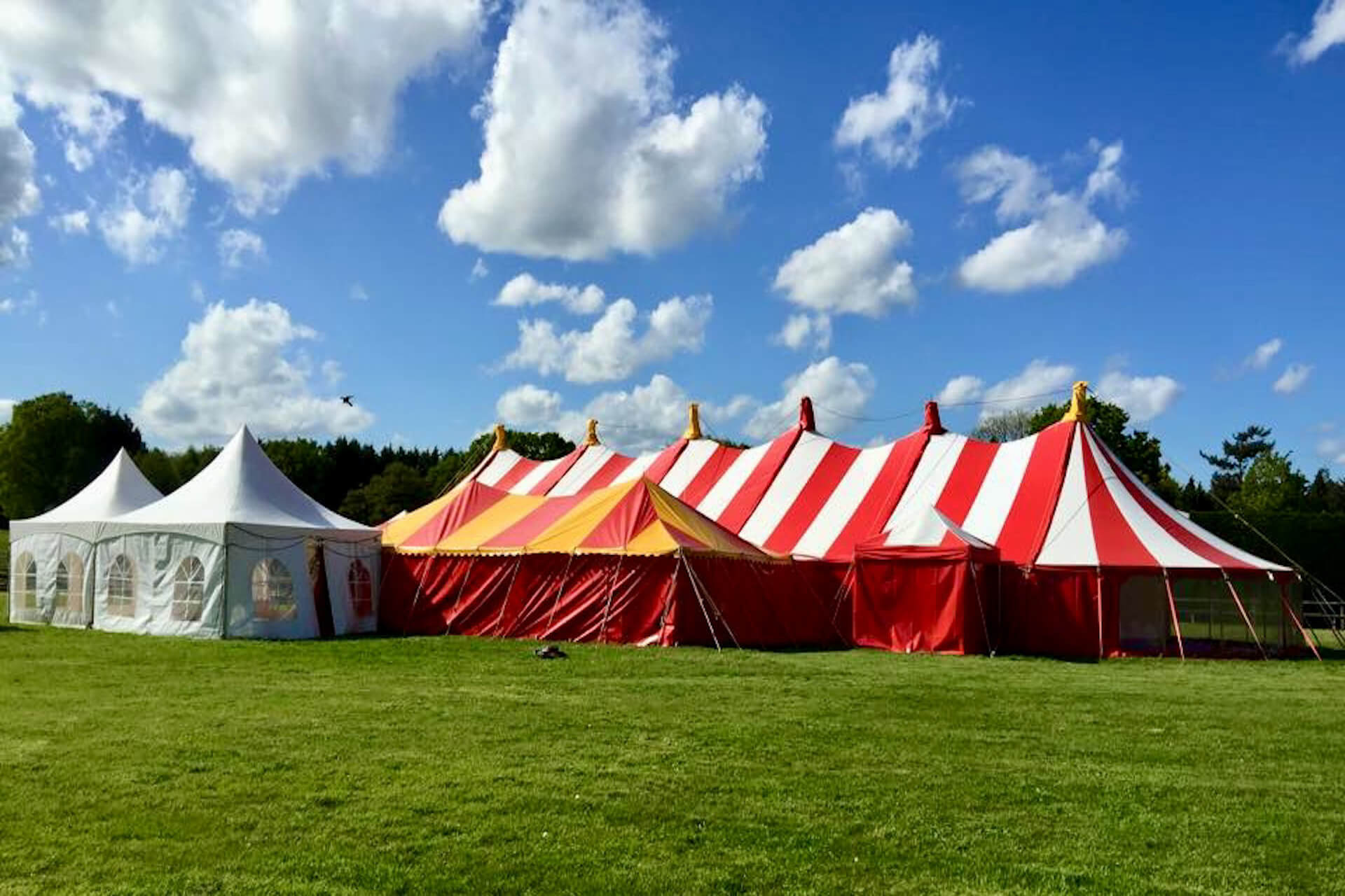 Fabulous colourful marquee party Cotswolds