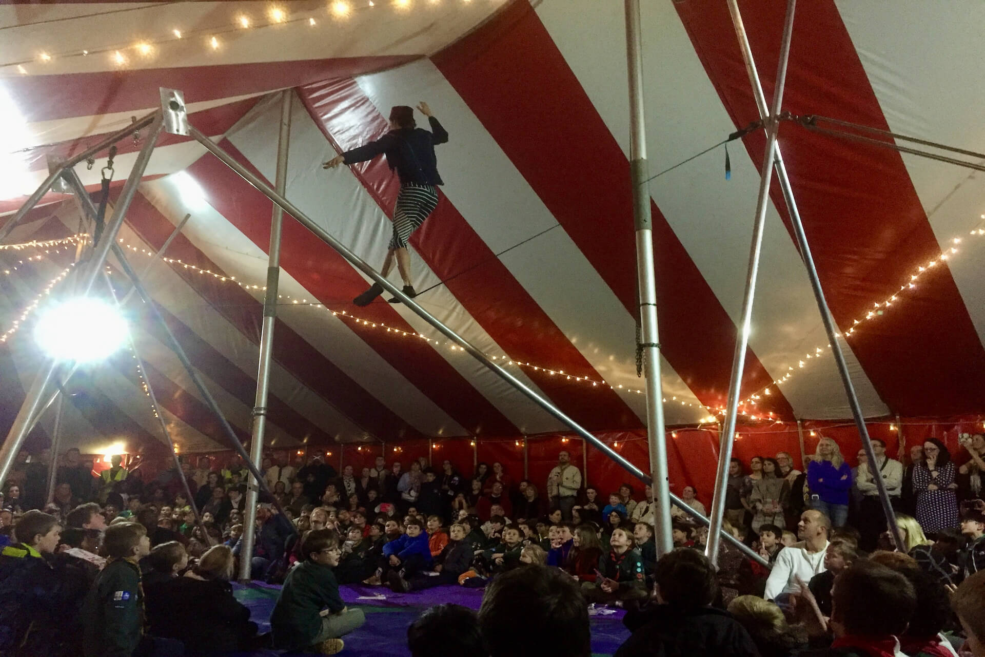 Circus show for scout Jamboree