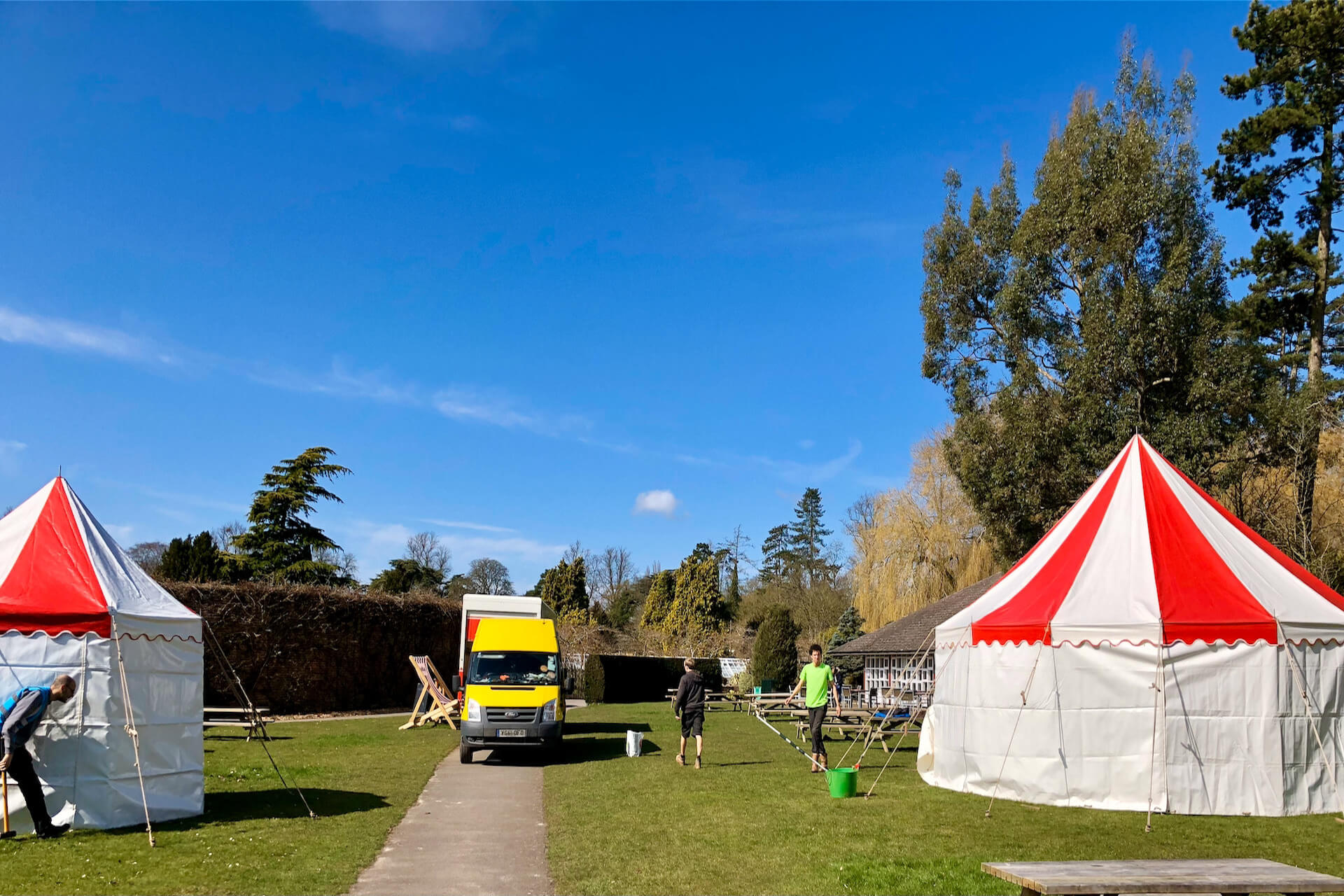 Marquee hire for Blenheim Palace Easter events