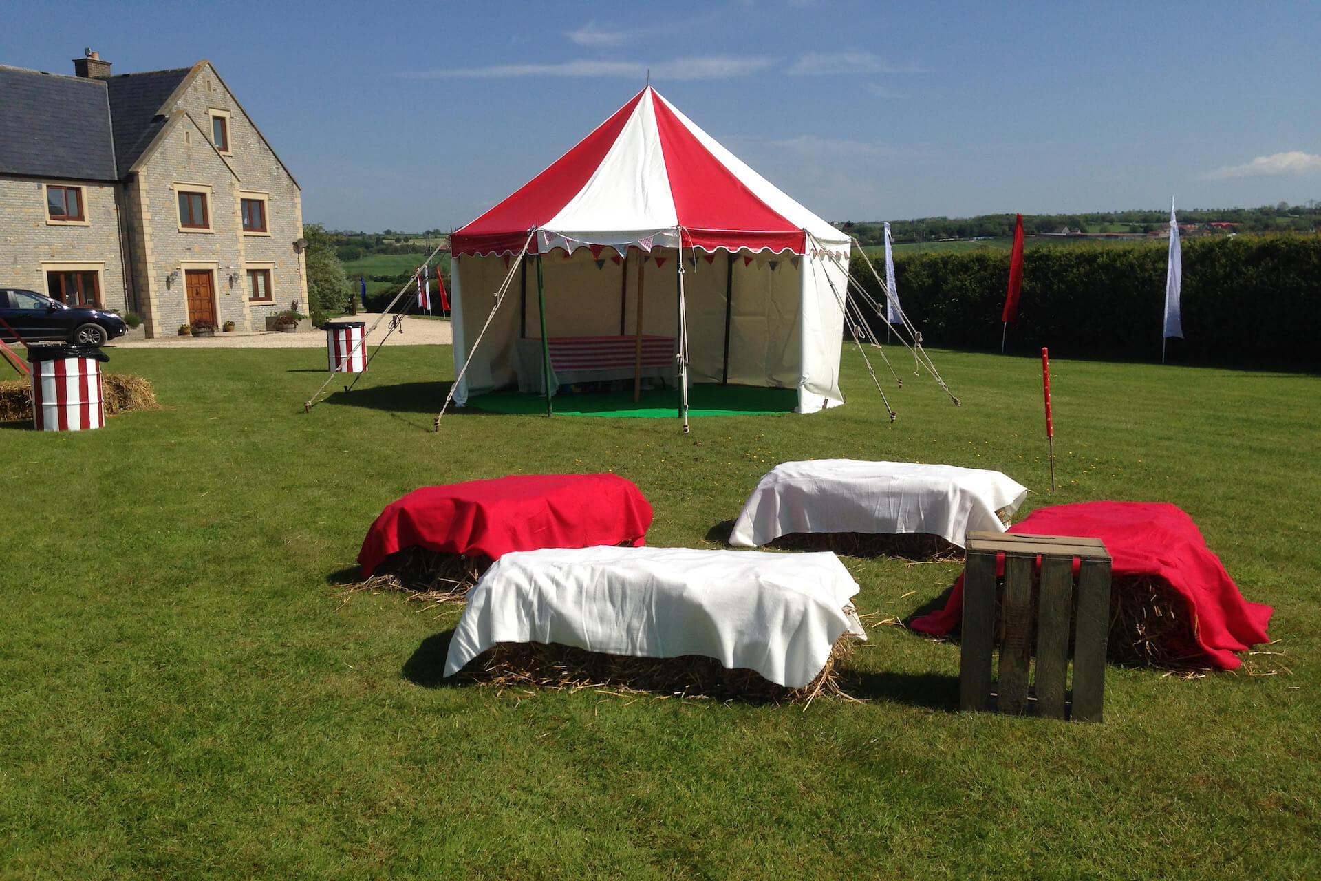Garden party tent hire in Somerset