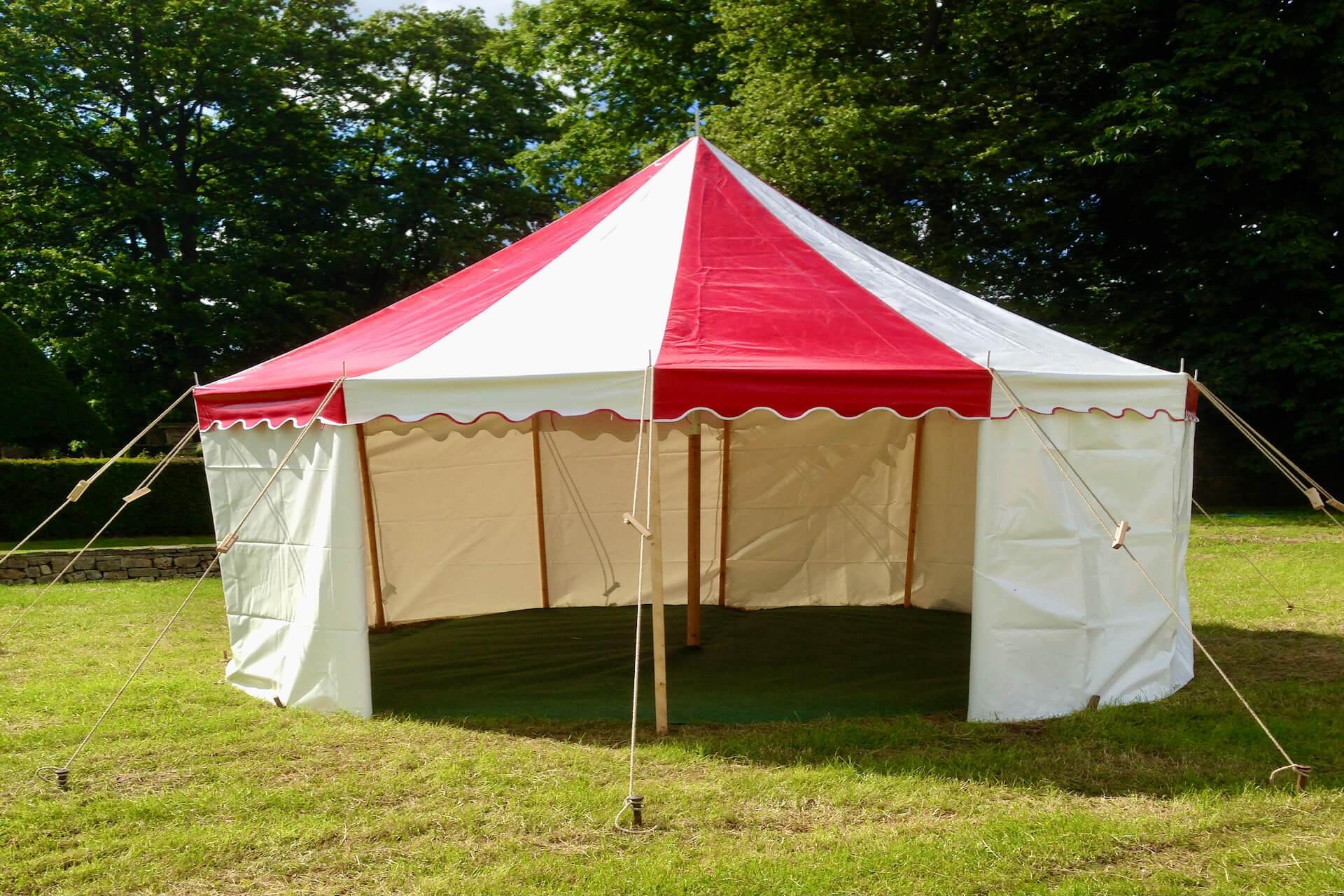 4m round mini candy striped tent