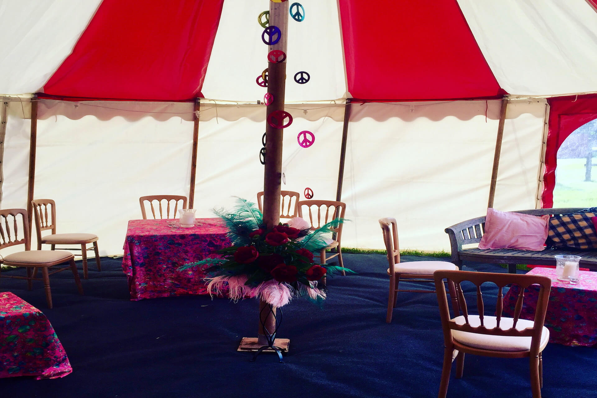 Chill out lounge tent for wedding party