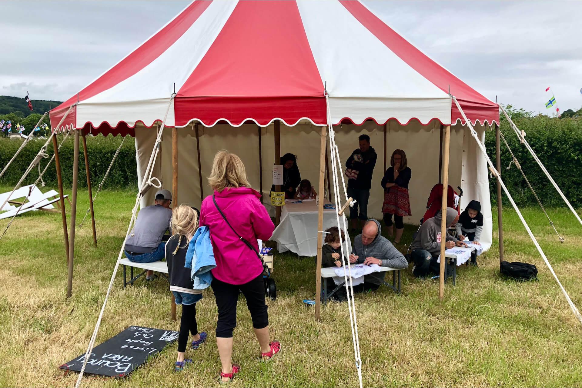 Children's craft tent at Bristol Volksfest
