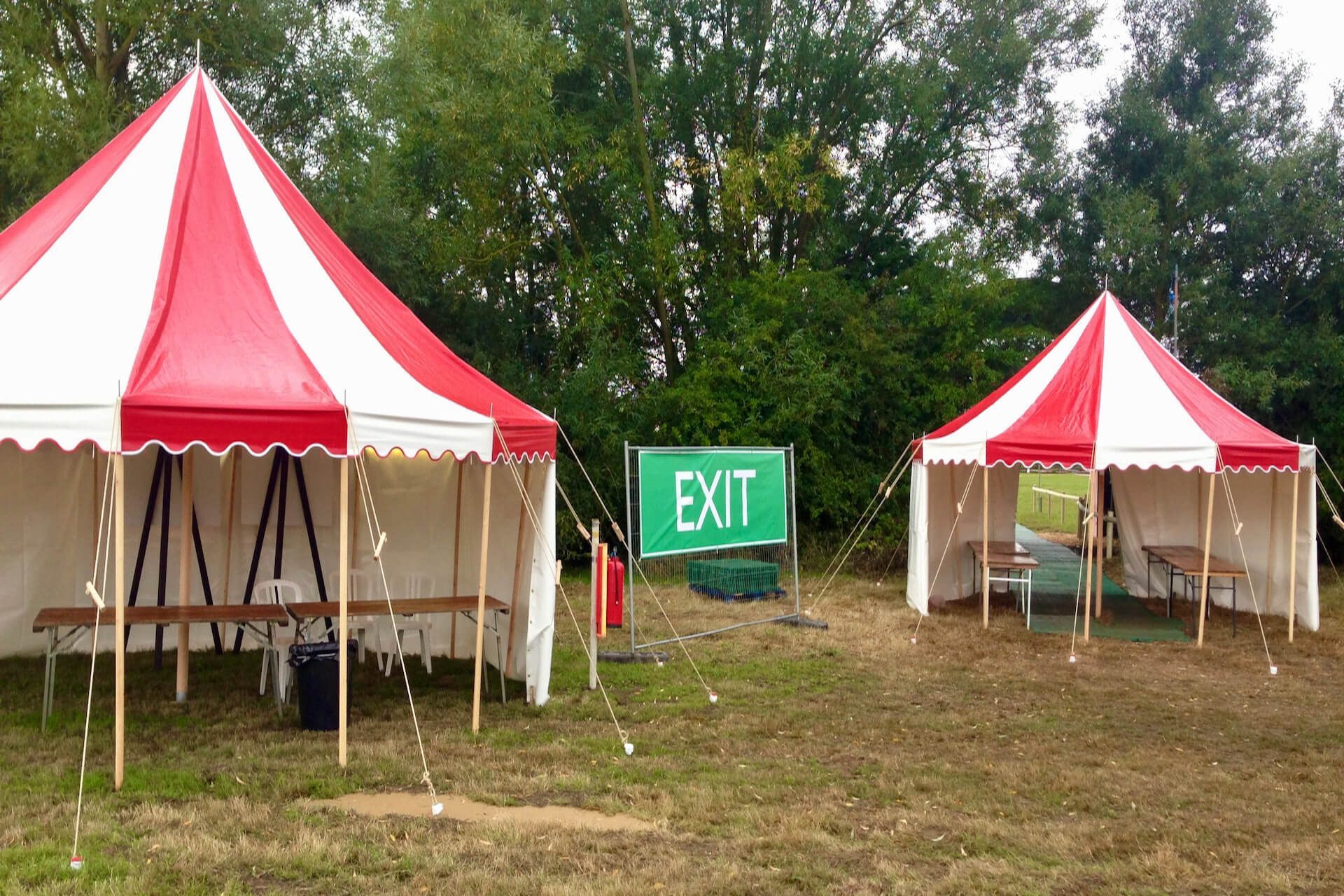 6m round small tent for hire