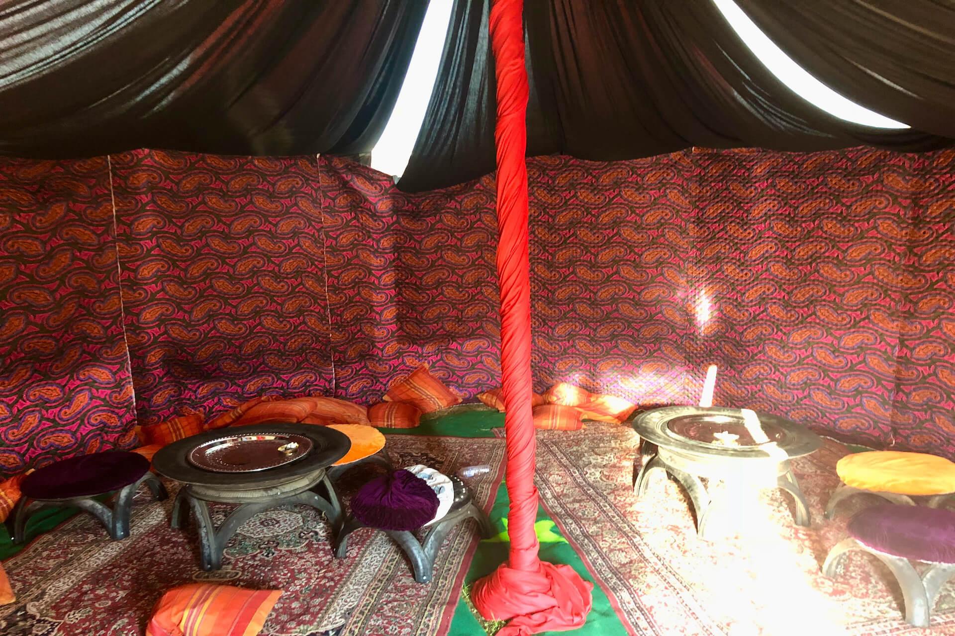 Moroccan theme interior for marquee