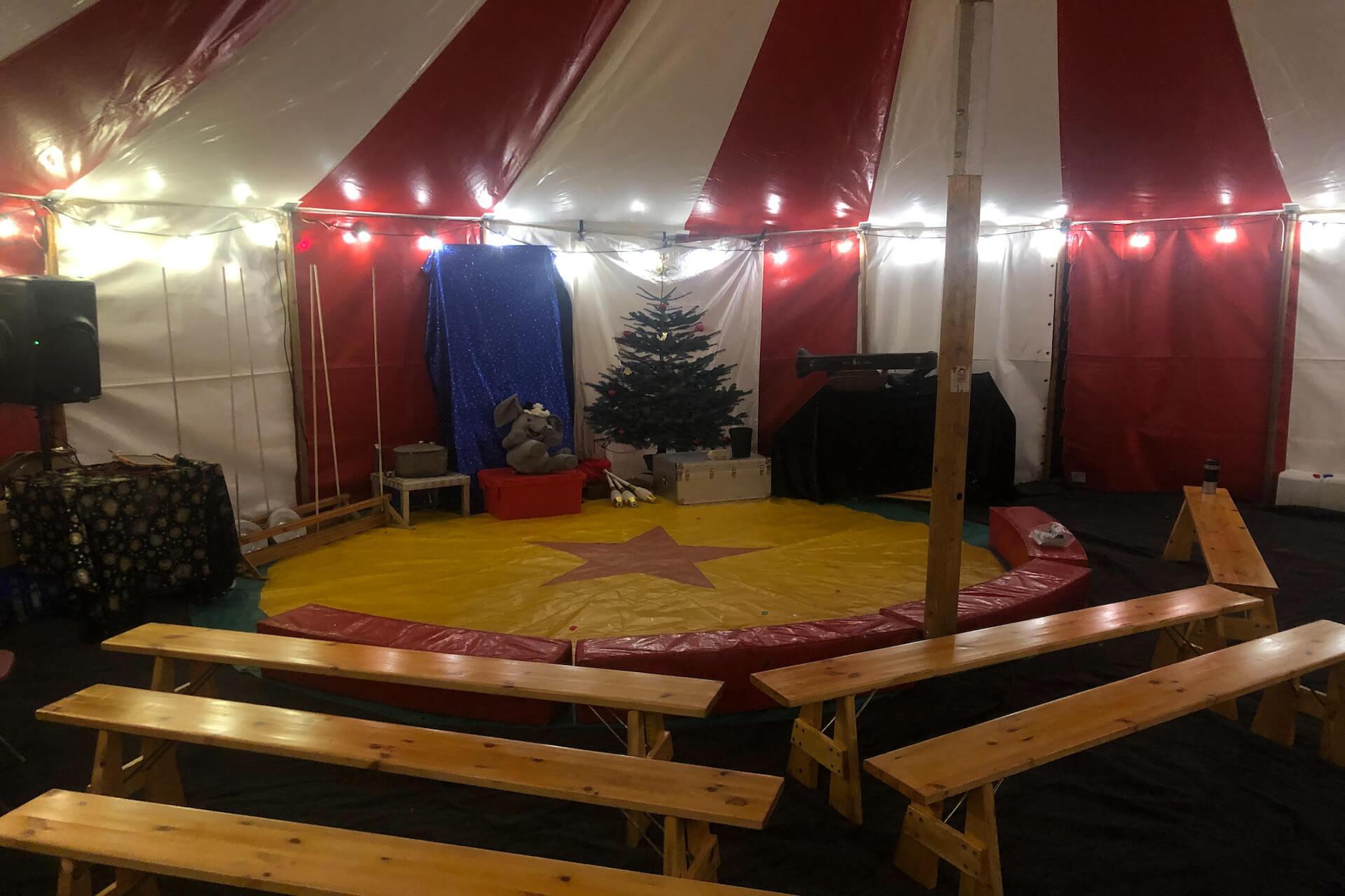 Small Christmas circus show