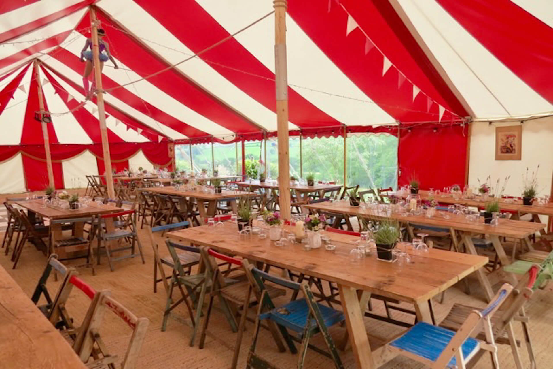 Dinner party marquee  hire in Honiton Devon