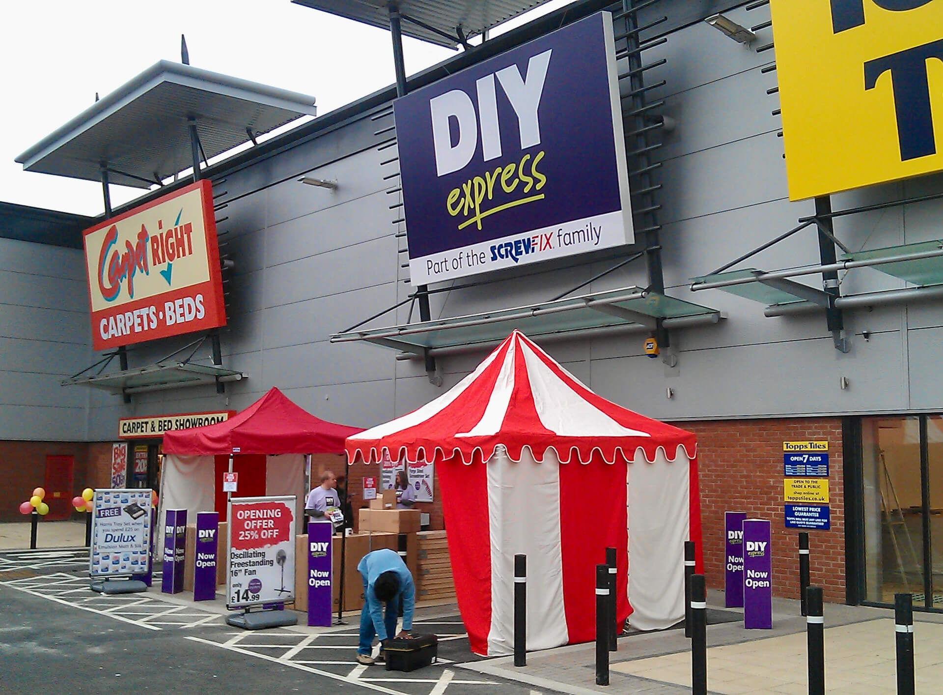 Store opening event hire