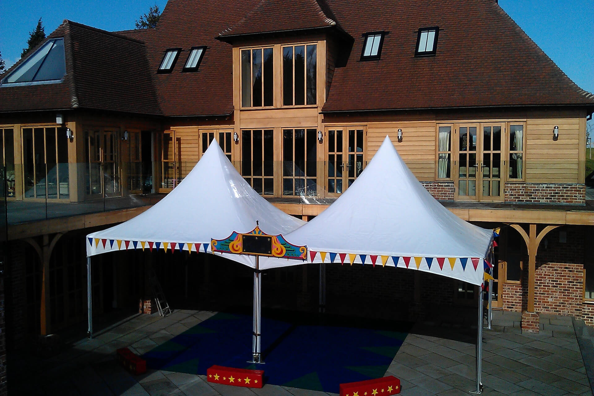 10m x 5m Chinese hat marquee hire
