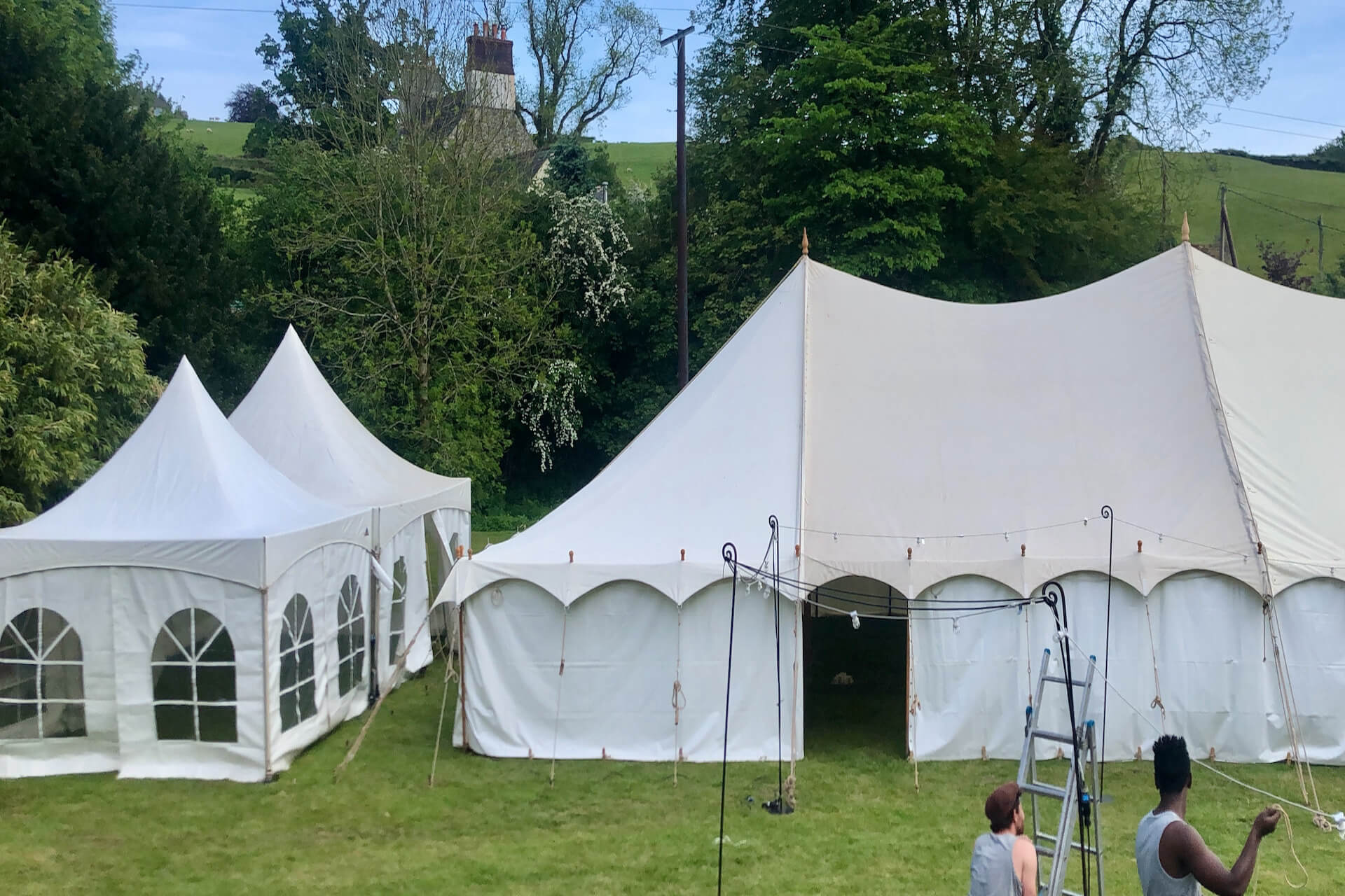 Wedding catering tent