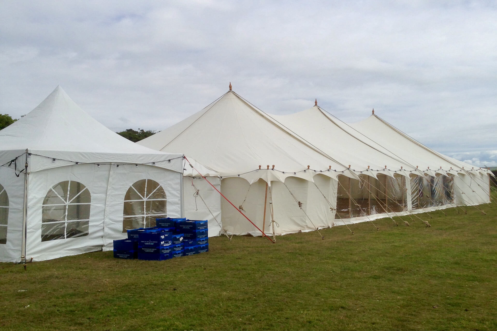 Wedding catering service marquee