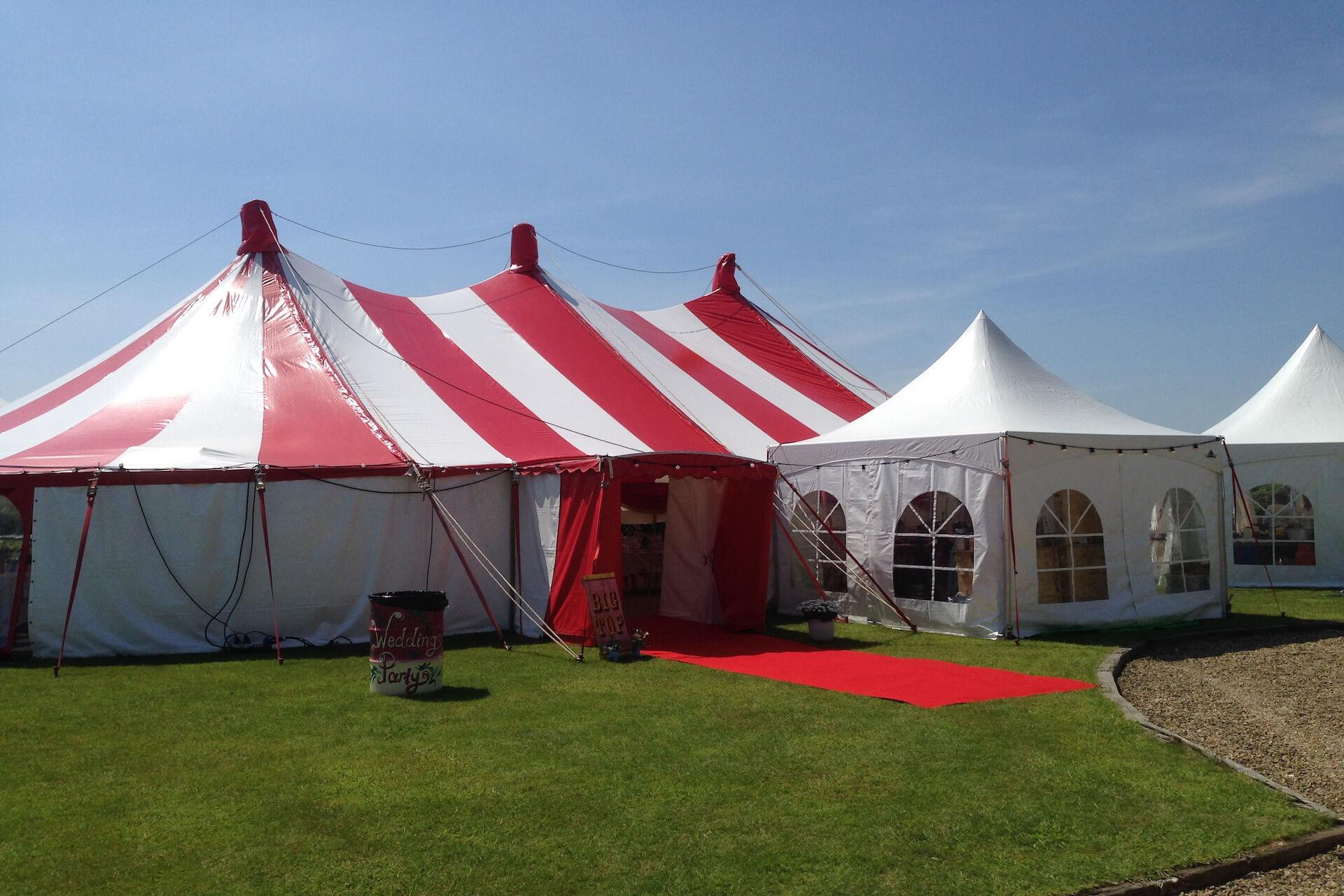 Champagne reception tent