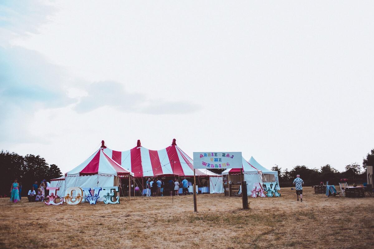 Festival wedding marquee hire Buckinghamshire