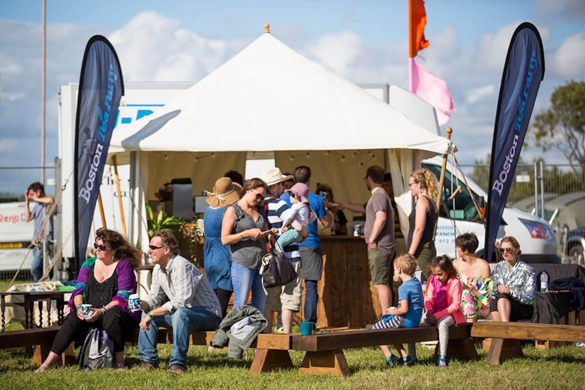 Canvas Tea Rose marquee festival stall