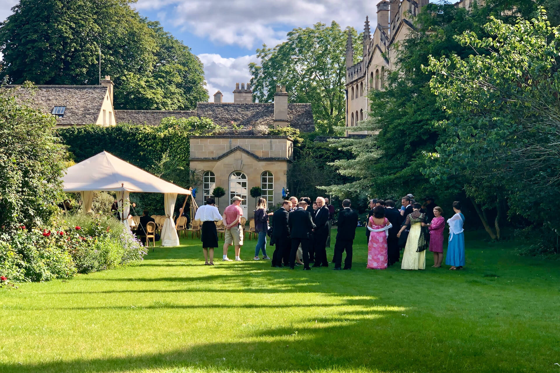 English garden party Cotswold tent hire