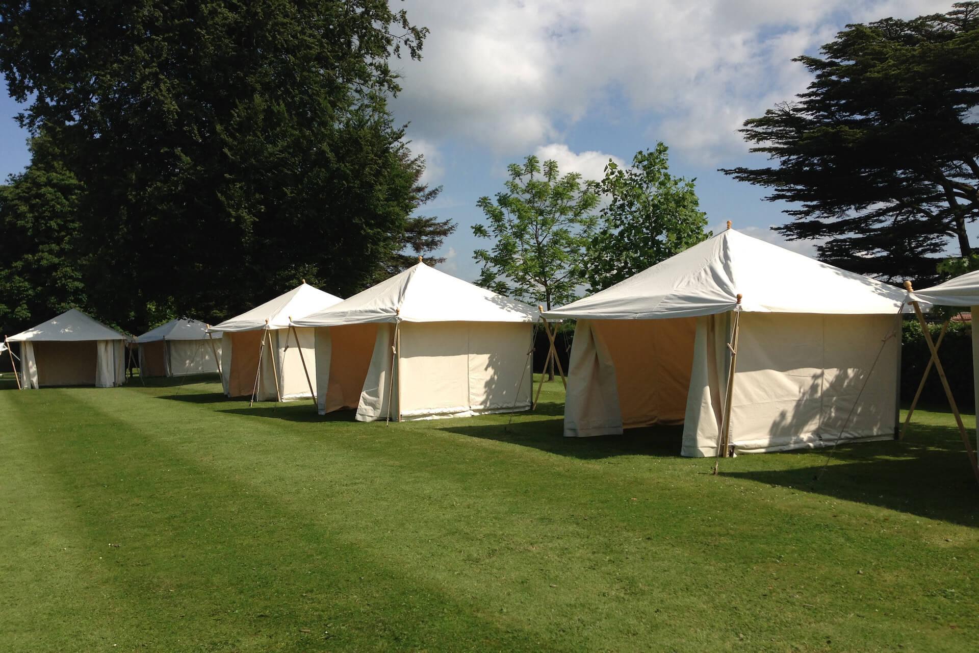 Tea Rose picnic tents