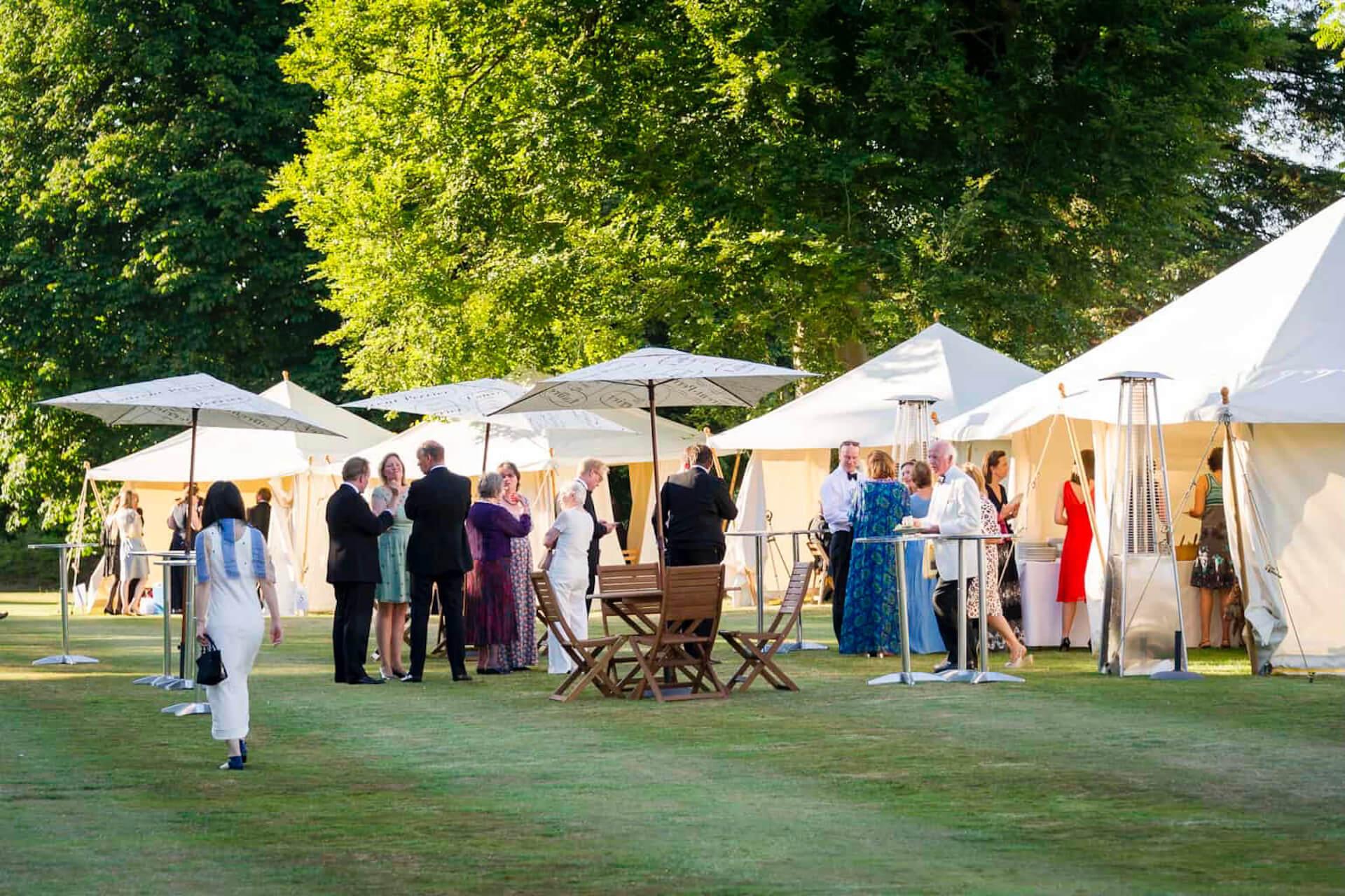 Garden opera picnic tents