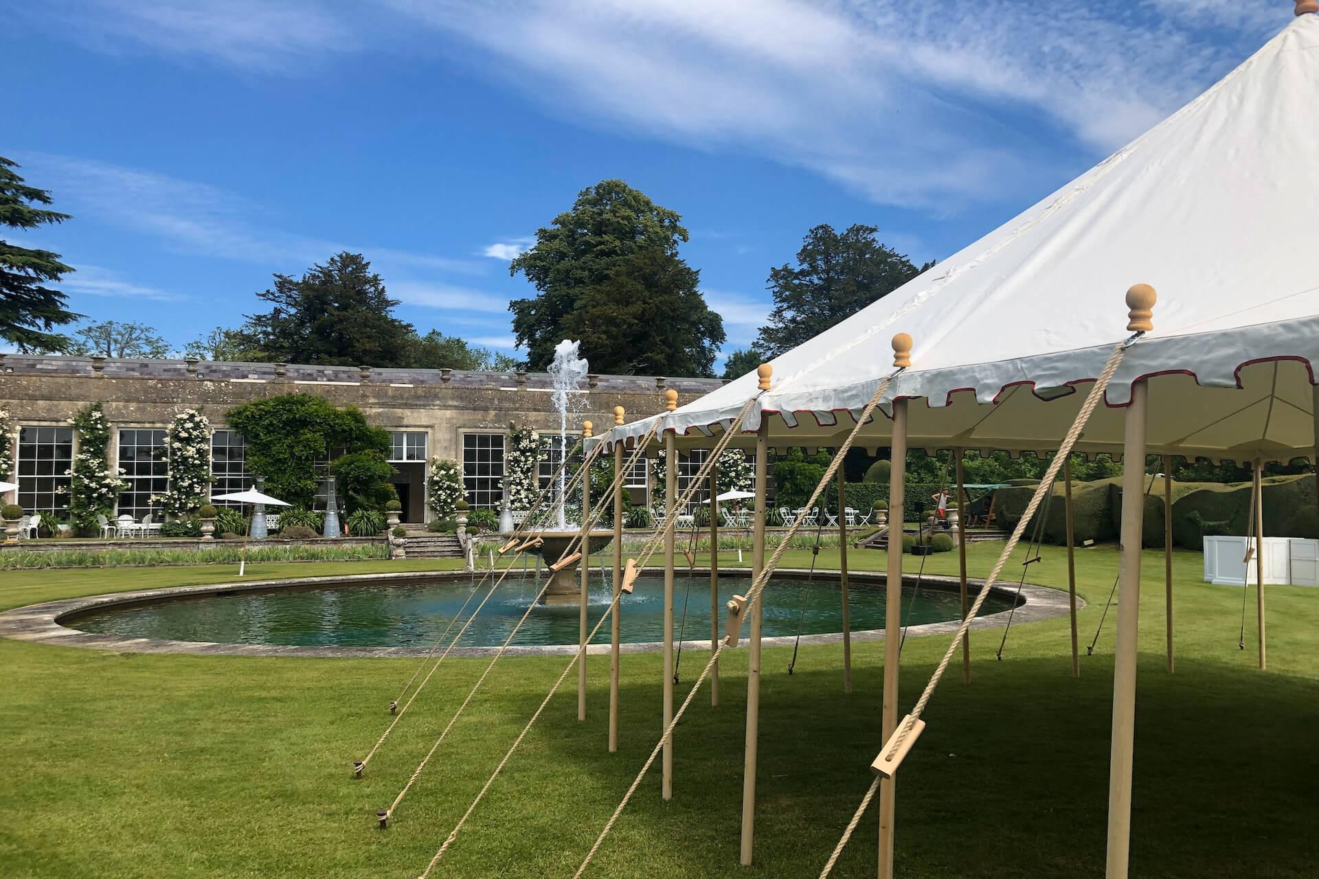 Badminton house orangery wedding event