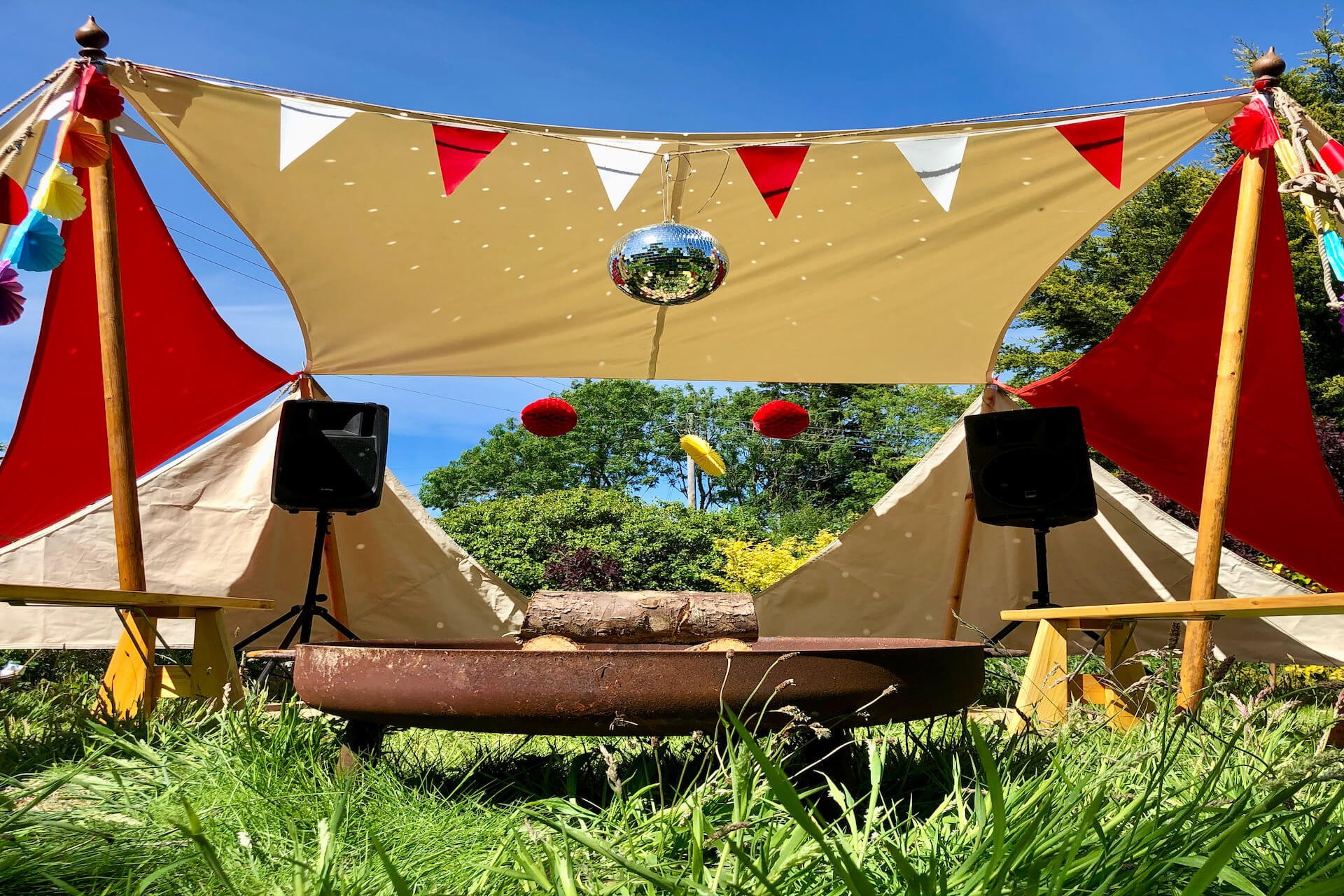 Shade seeker sails great for garden parties