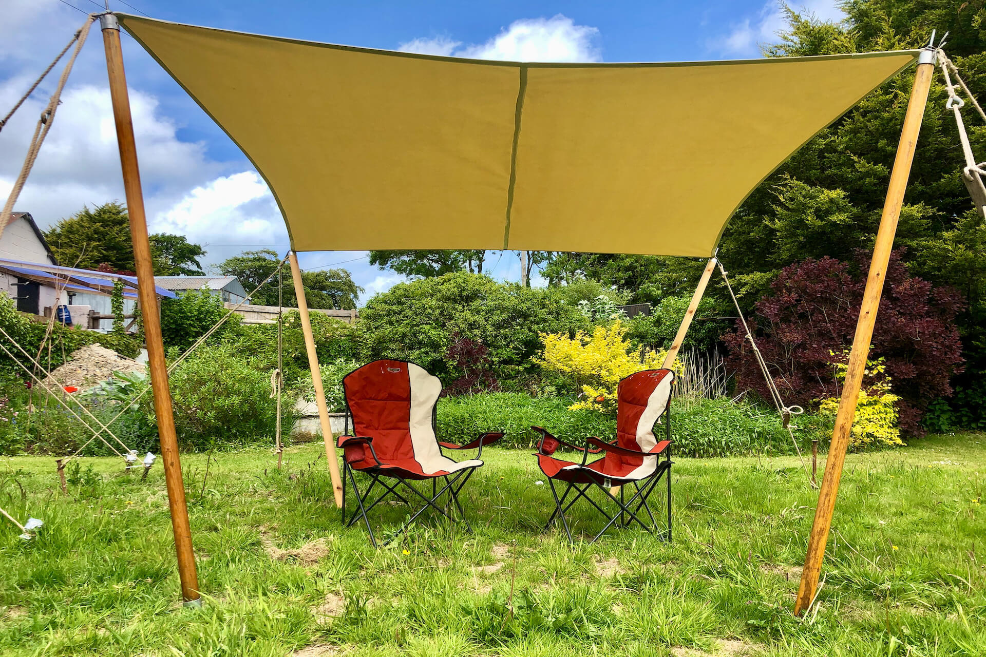Shade sail 3m x 3m garden retreat