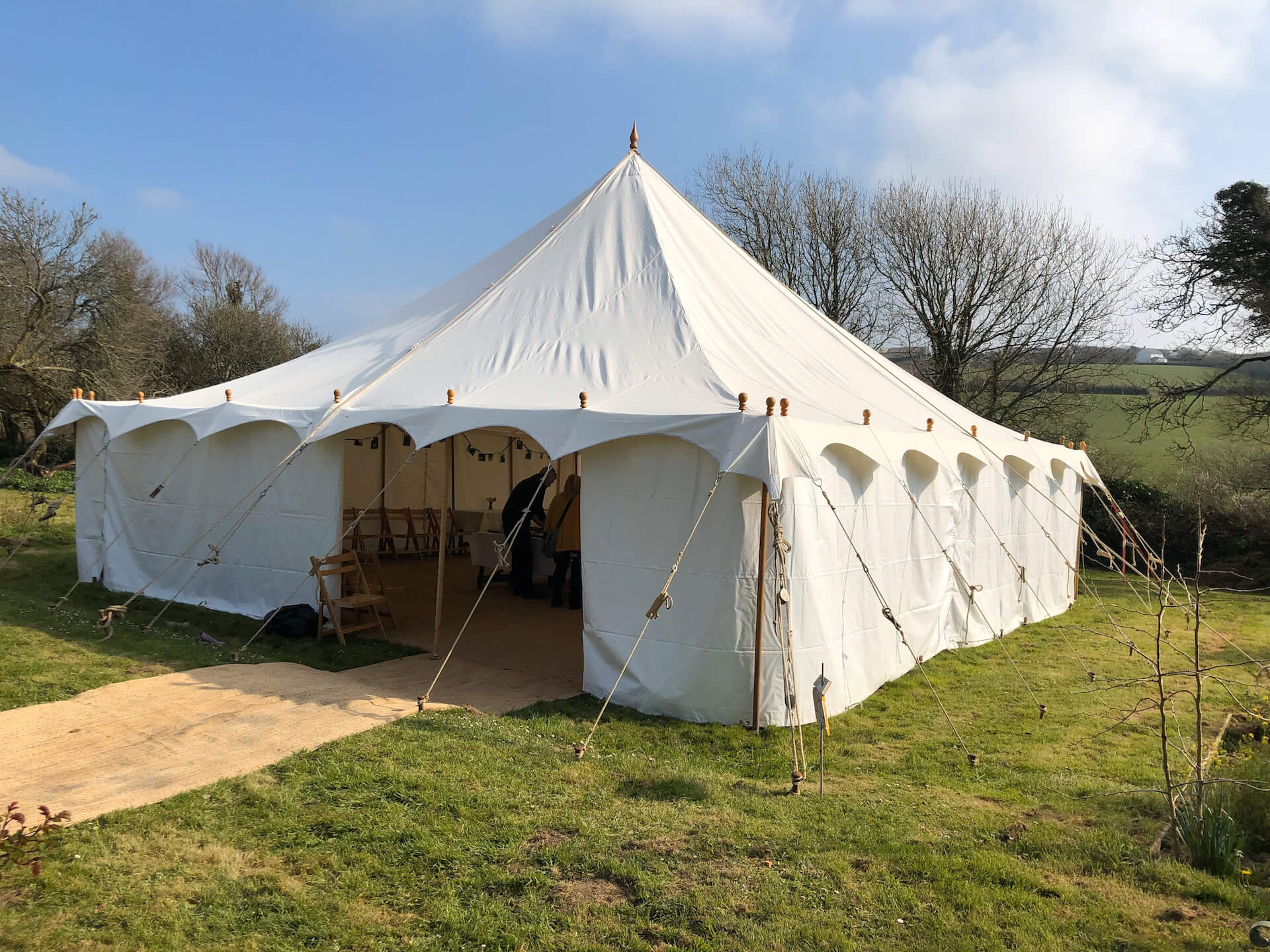 30x30ft Traditional canvas marquee