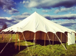 30x30ft Canvas marqueee hire