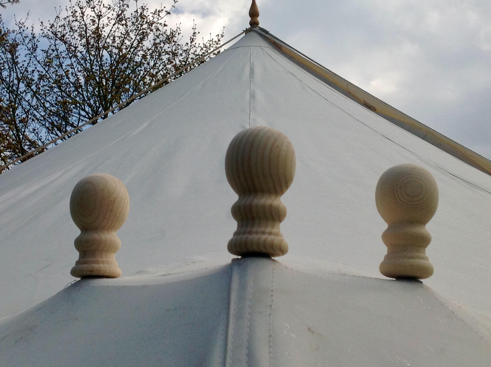 Wooden marquee dollies or finials