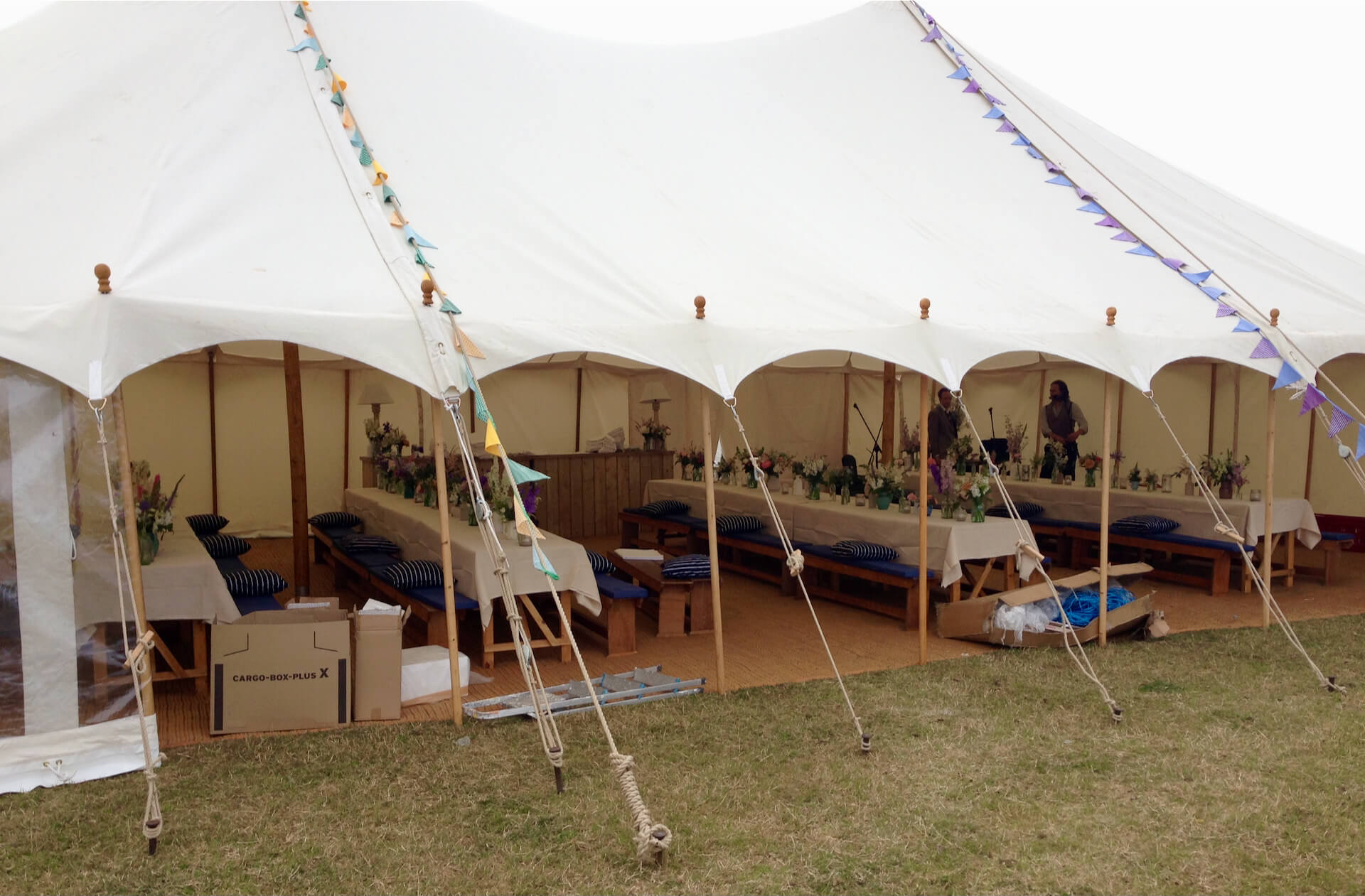 open fronted marquee