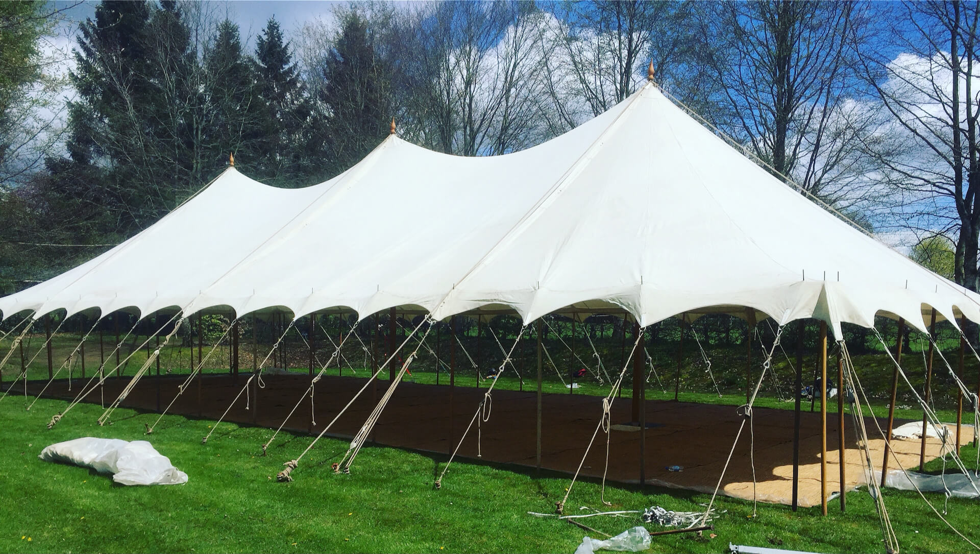 9x21m petal marquee without walls