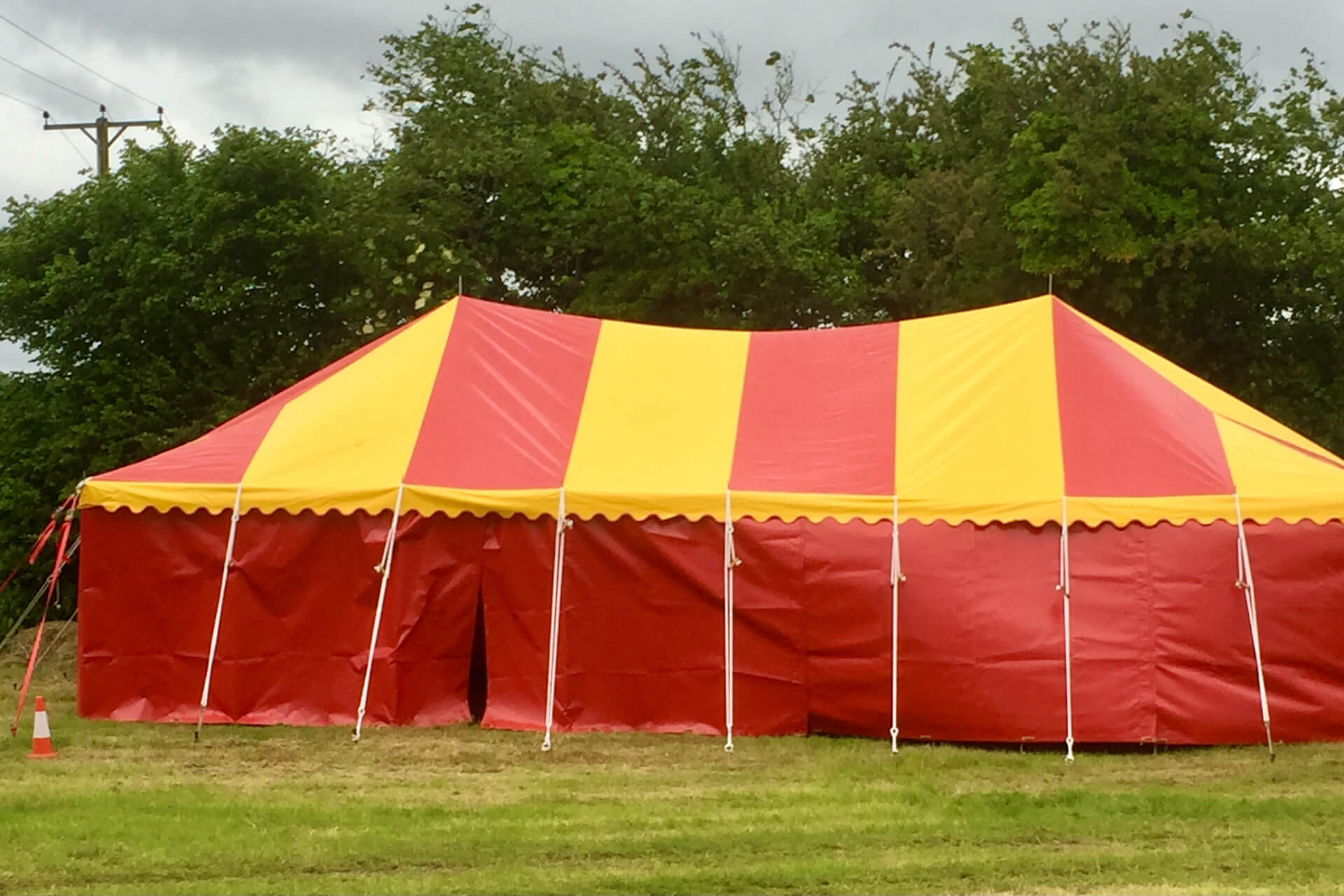 6m x 12m red and yellow marquee