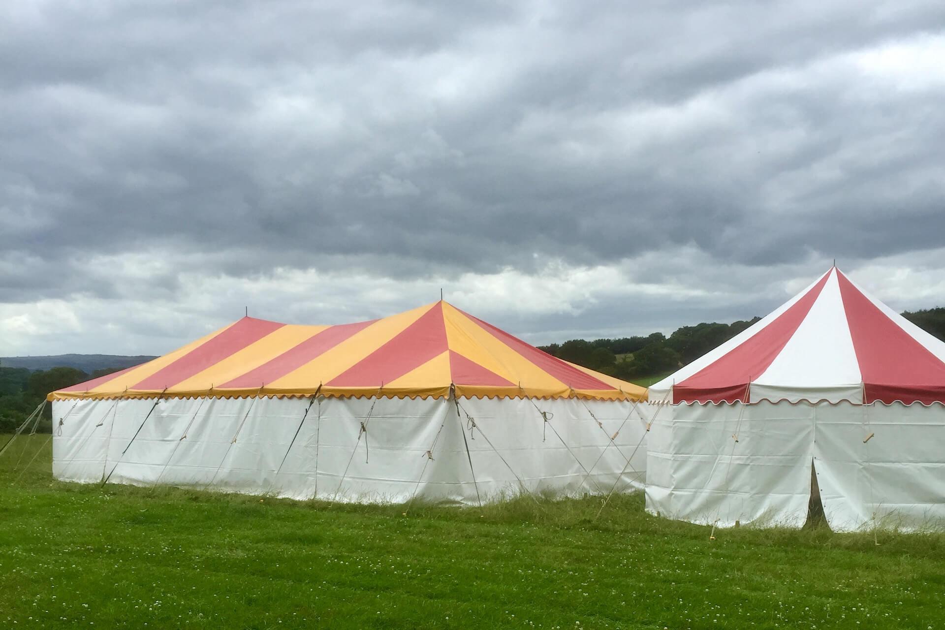 festival marquees hire Devon