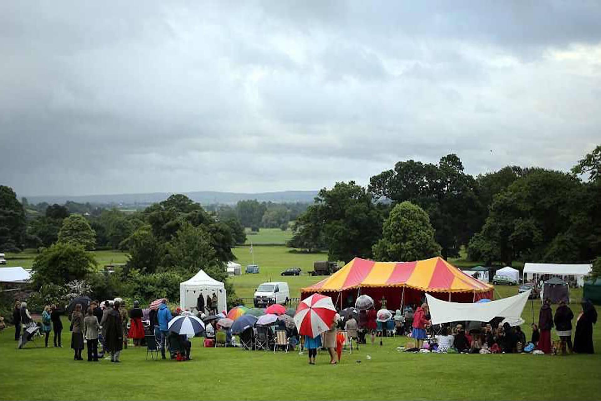 National Trust event at Killerton house in Devon