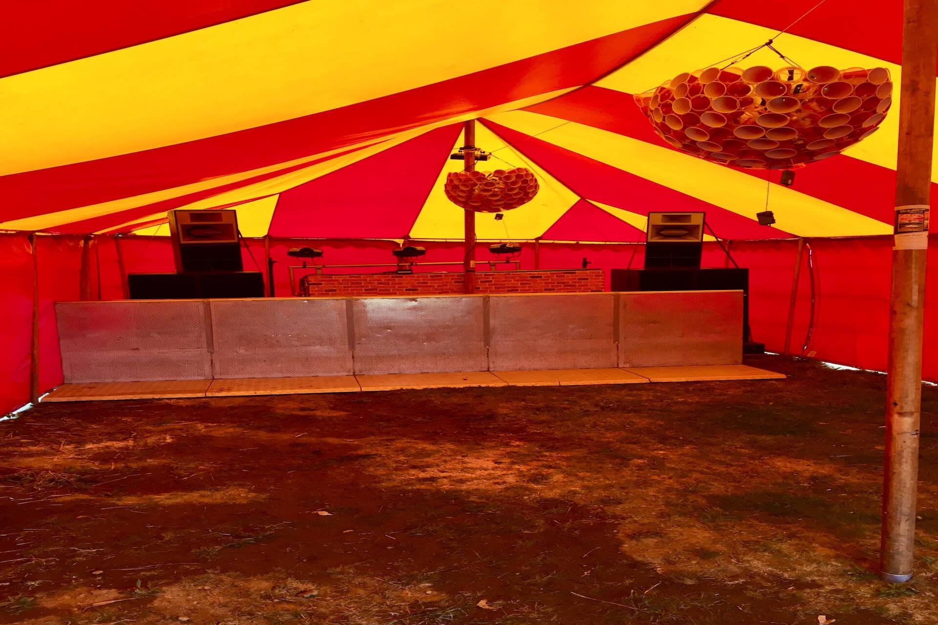 Dance tent at Masked Ball Cornwall