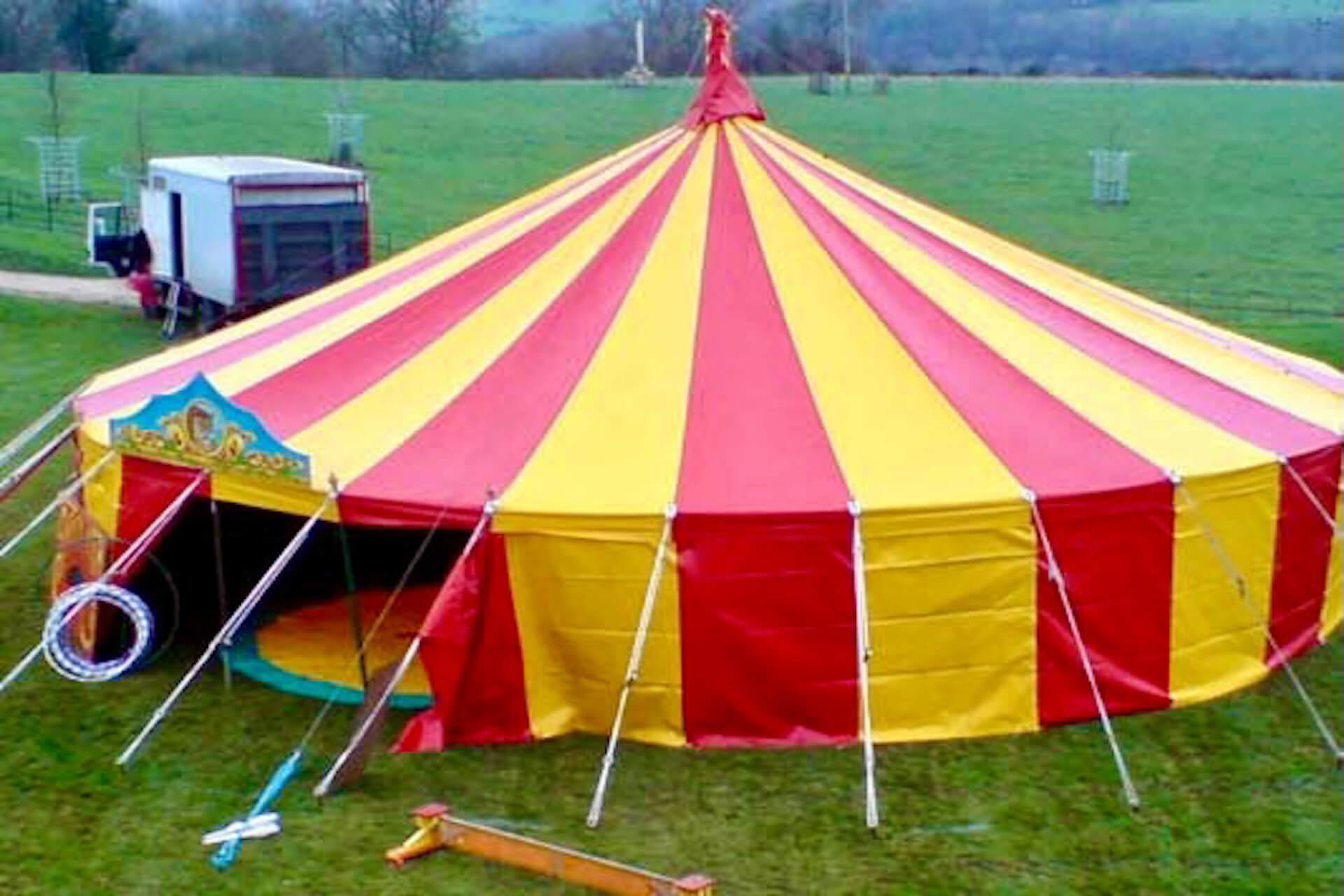 35ft Round colourful marquee Devon