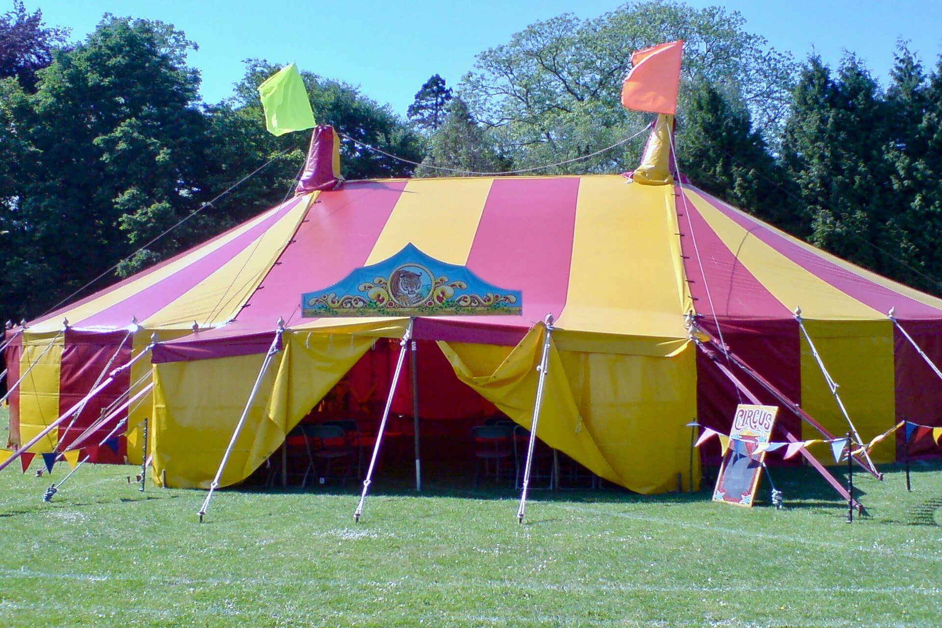 15m x 17m Our original Big top circus tent called Dorothy