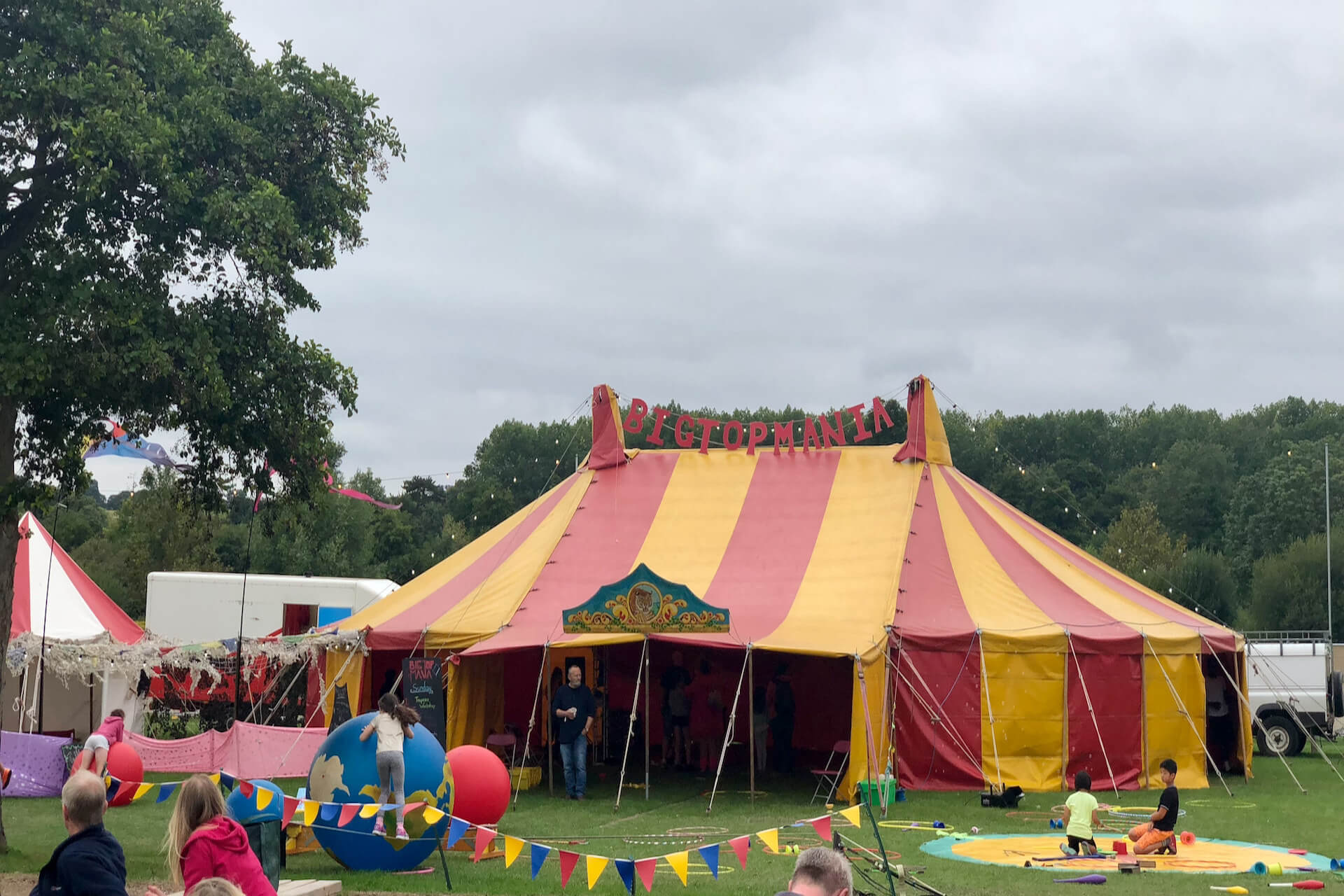 Bigtopmania pop up circus show tent near London