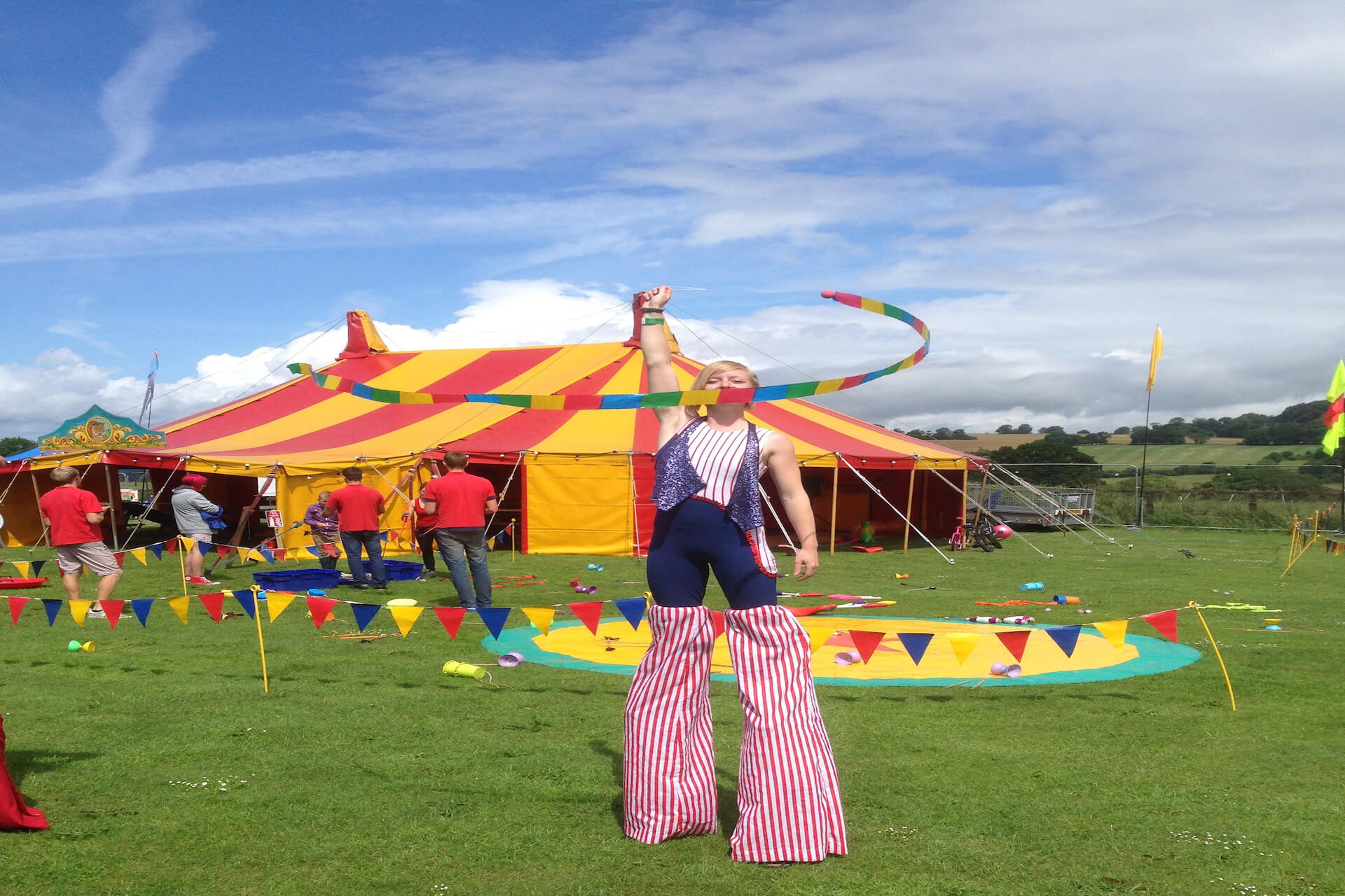 Nibley festival childrens play area tent Gloucester