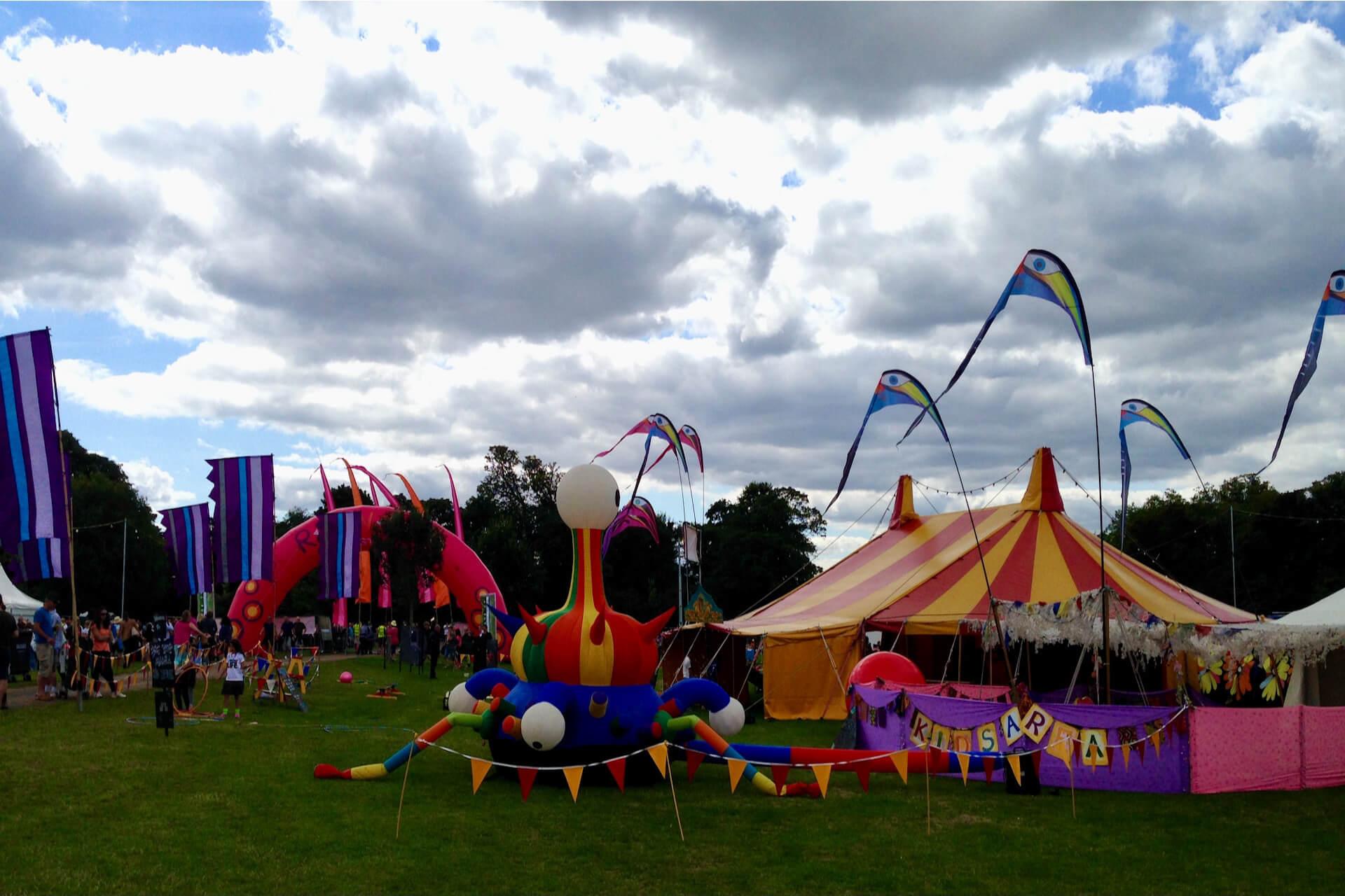 Rewind festival childrens area Oxfordshire