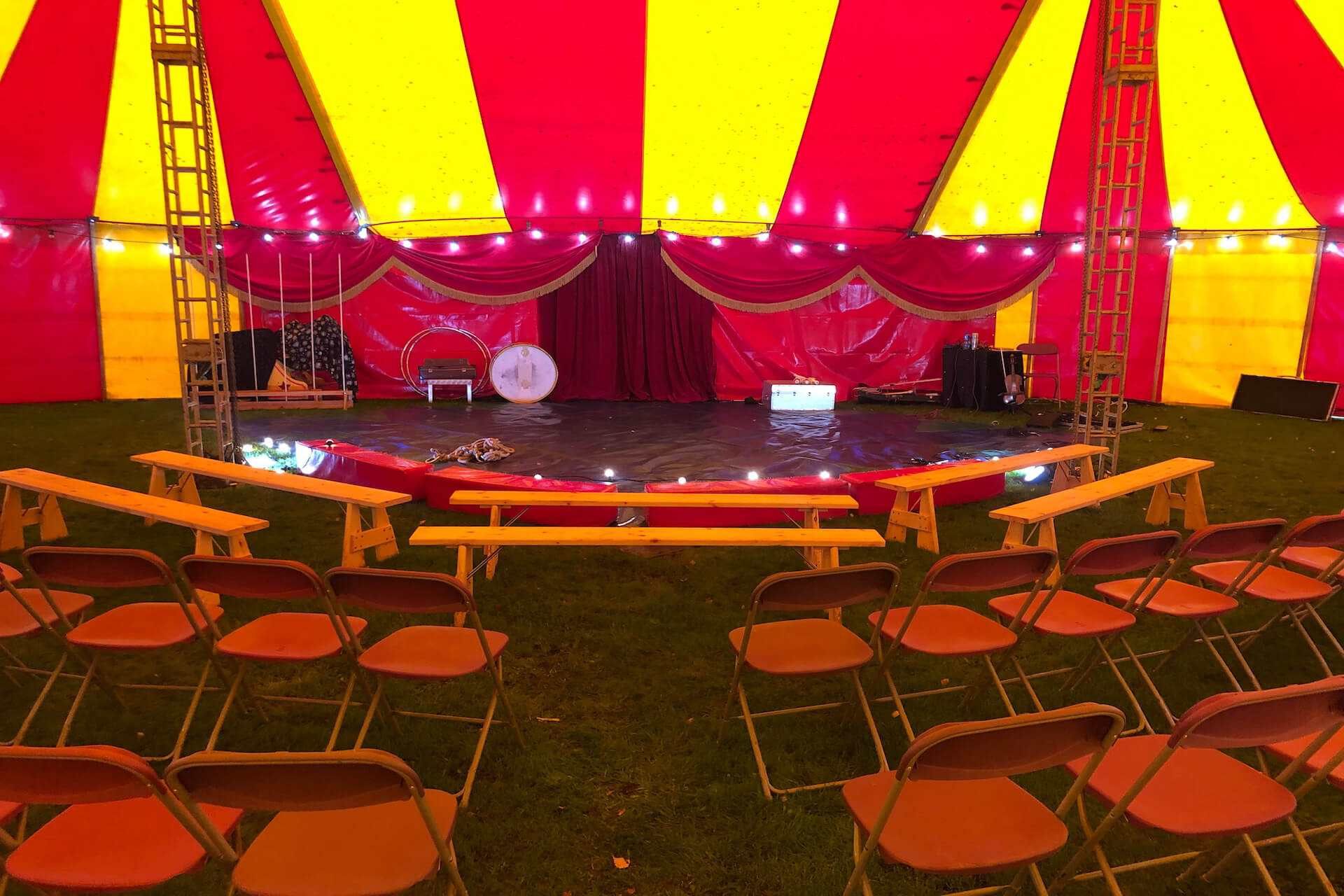 All set up for a Bigtopmania circus show