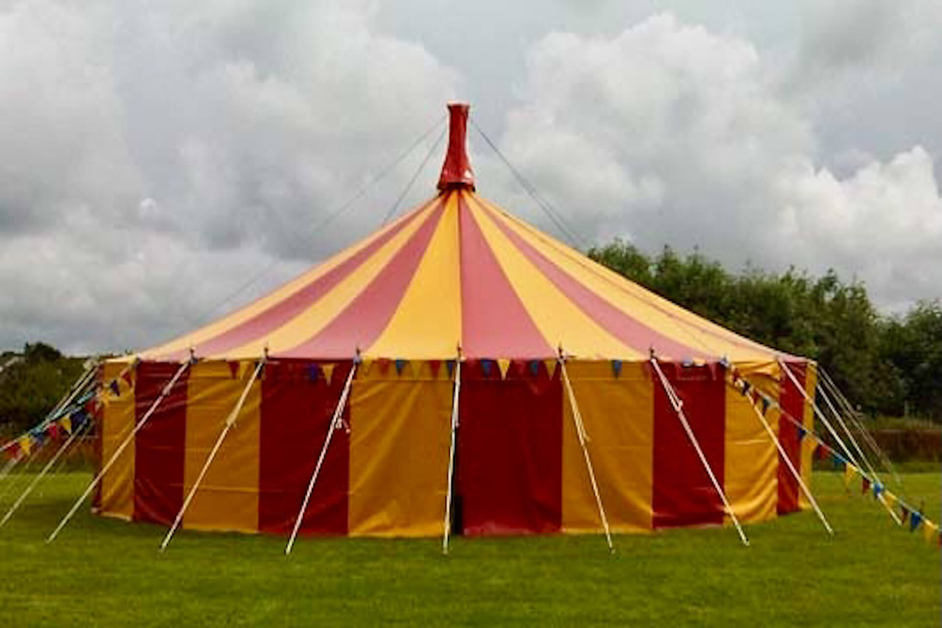 red and yellow circus big top