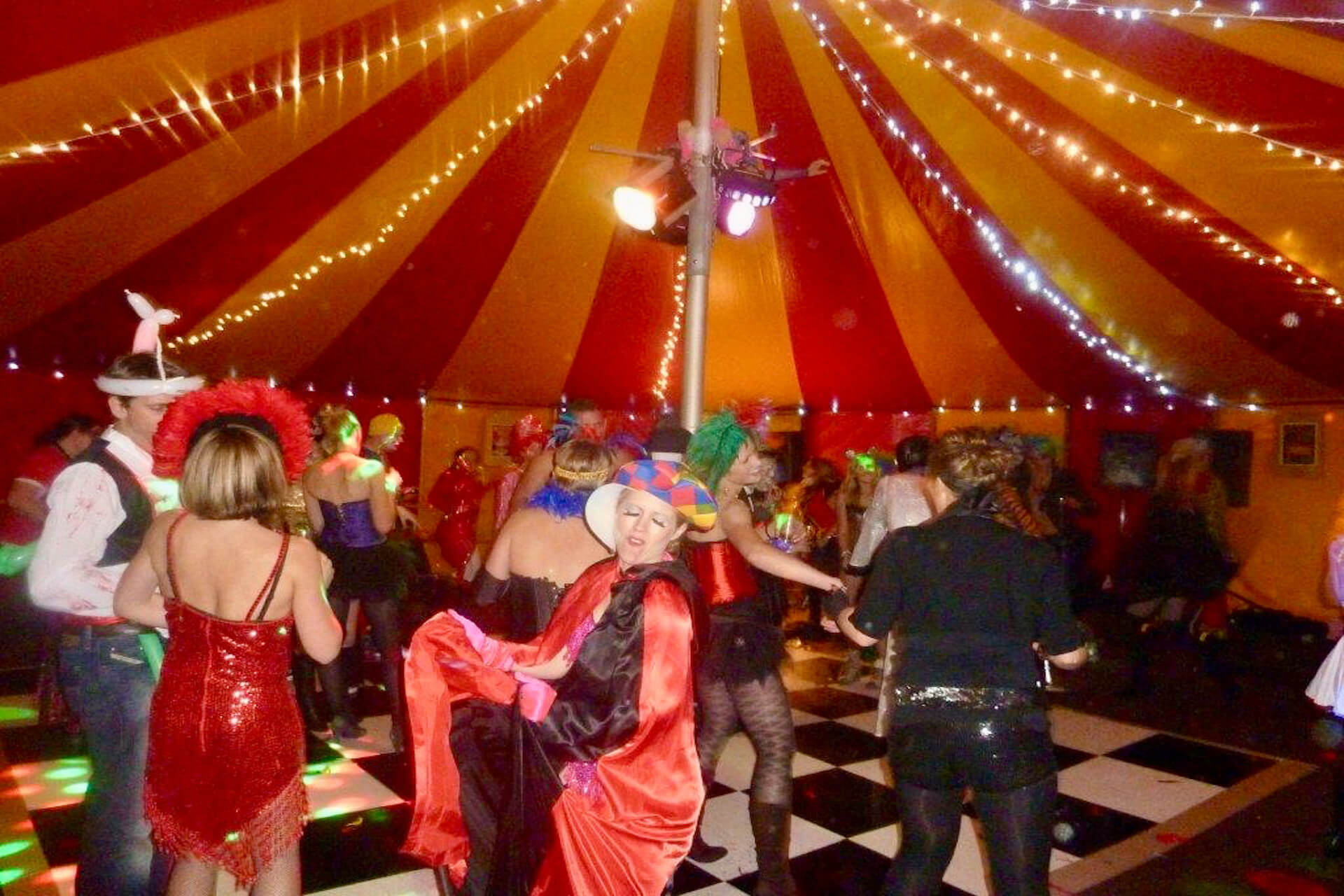 adult circus theme party planner