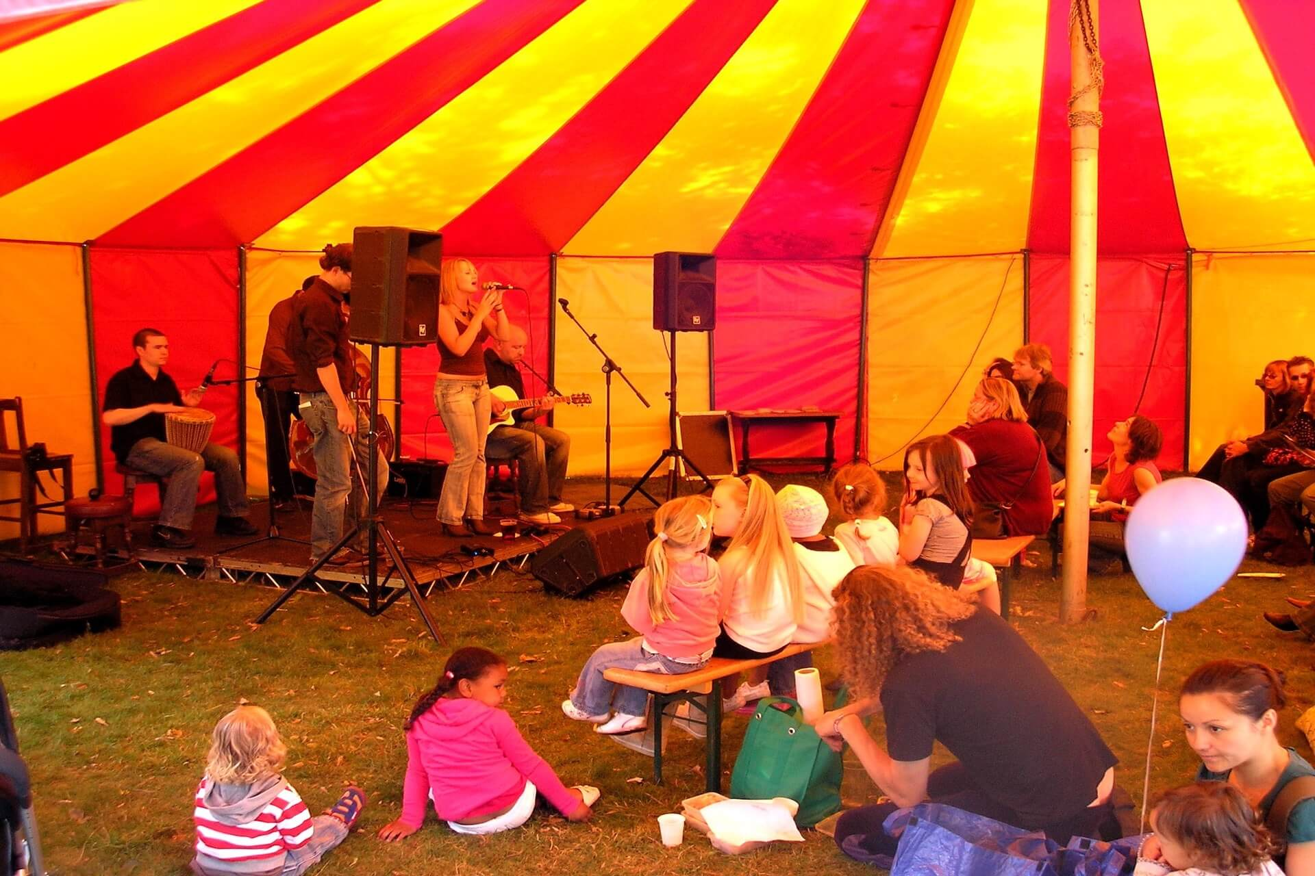acoustic tent at festival at south hill park arts centre, bracknell