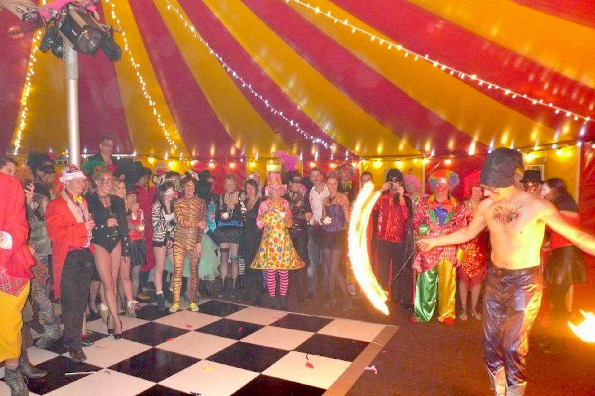fire performer party hire