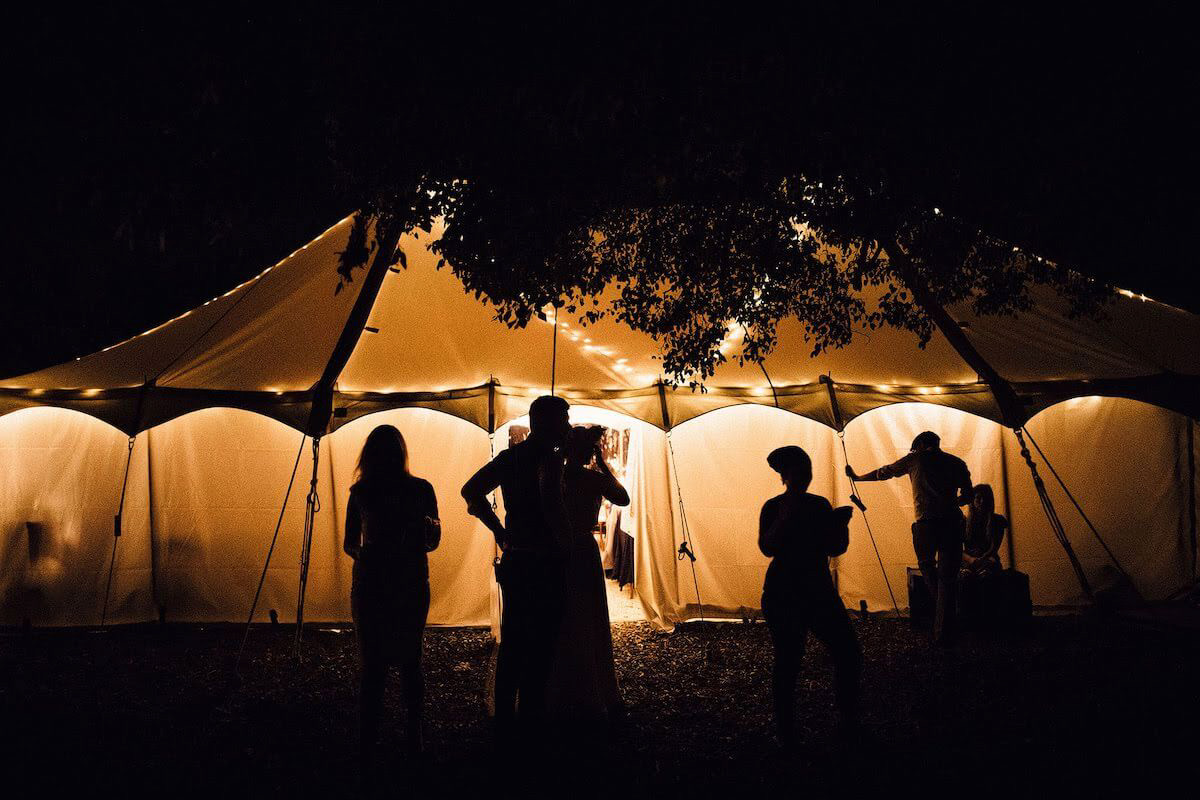Wedding photography ©SamDocker of a country wedding marquee