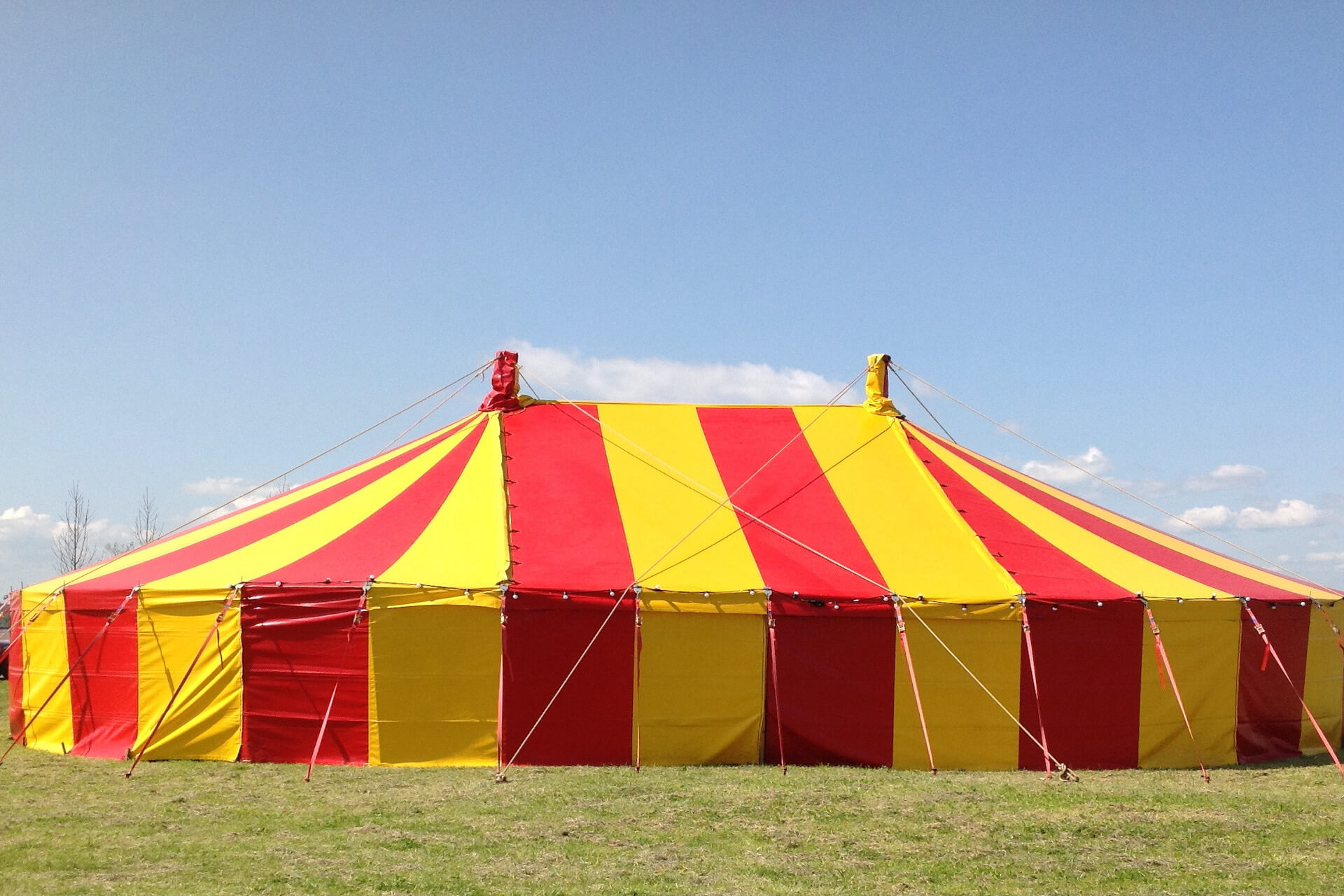 40ft x 60ft Red & yellow marquee