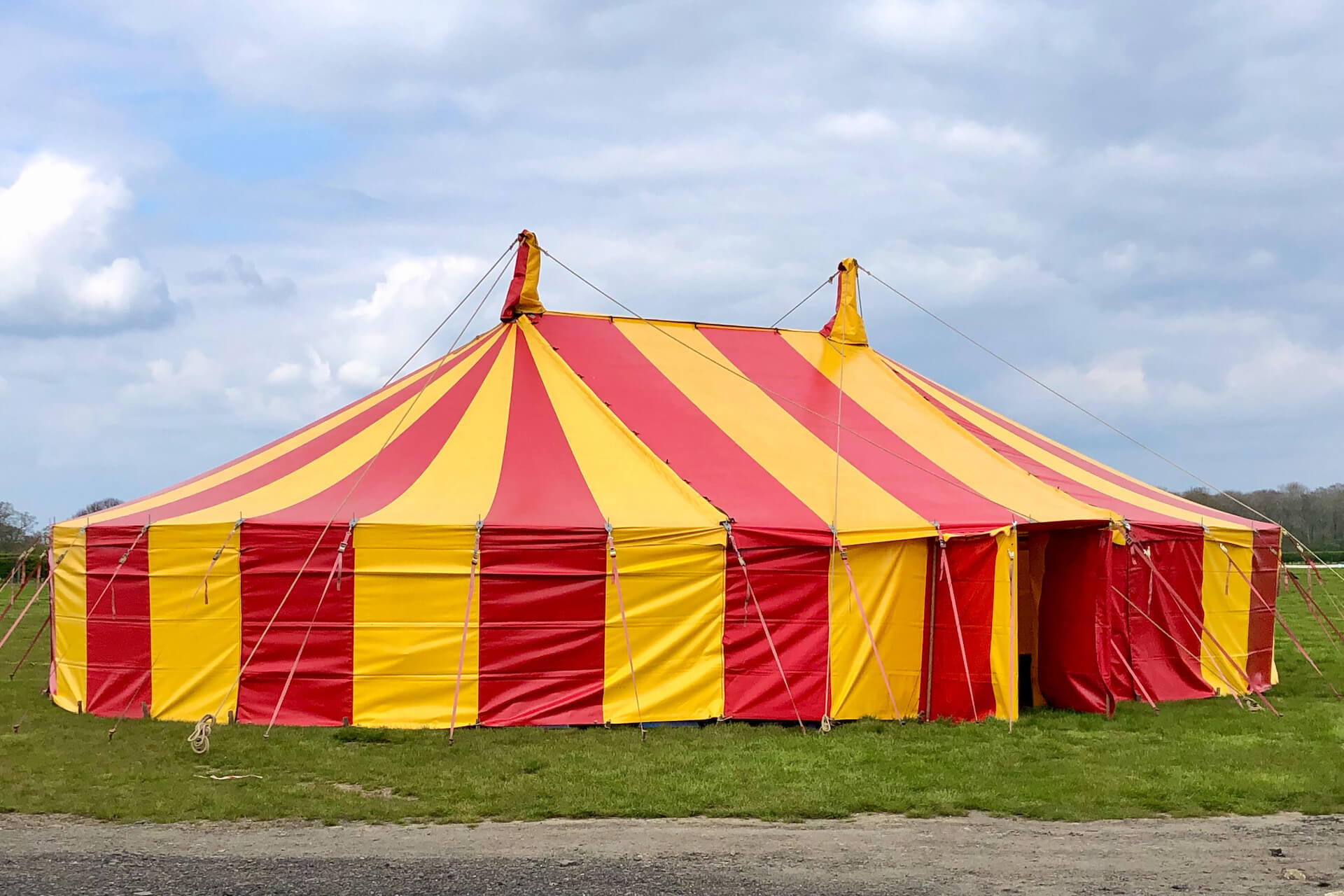 12m x 17.5m Red and yellow marquee